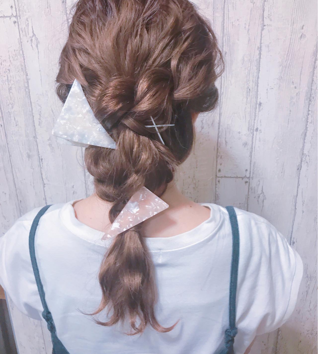 ヘアアレンジ 女子会 セミロング フェミニン ヘアスタイルや髪型の写真・画像