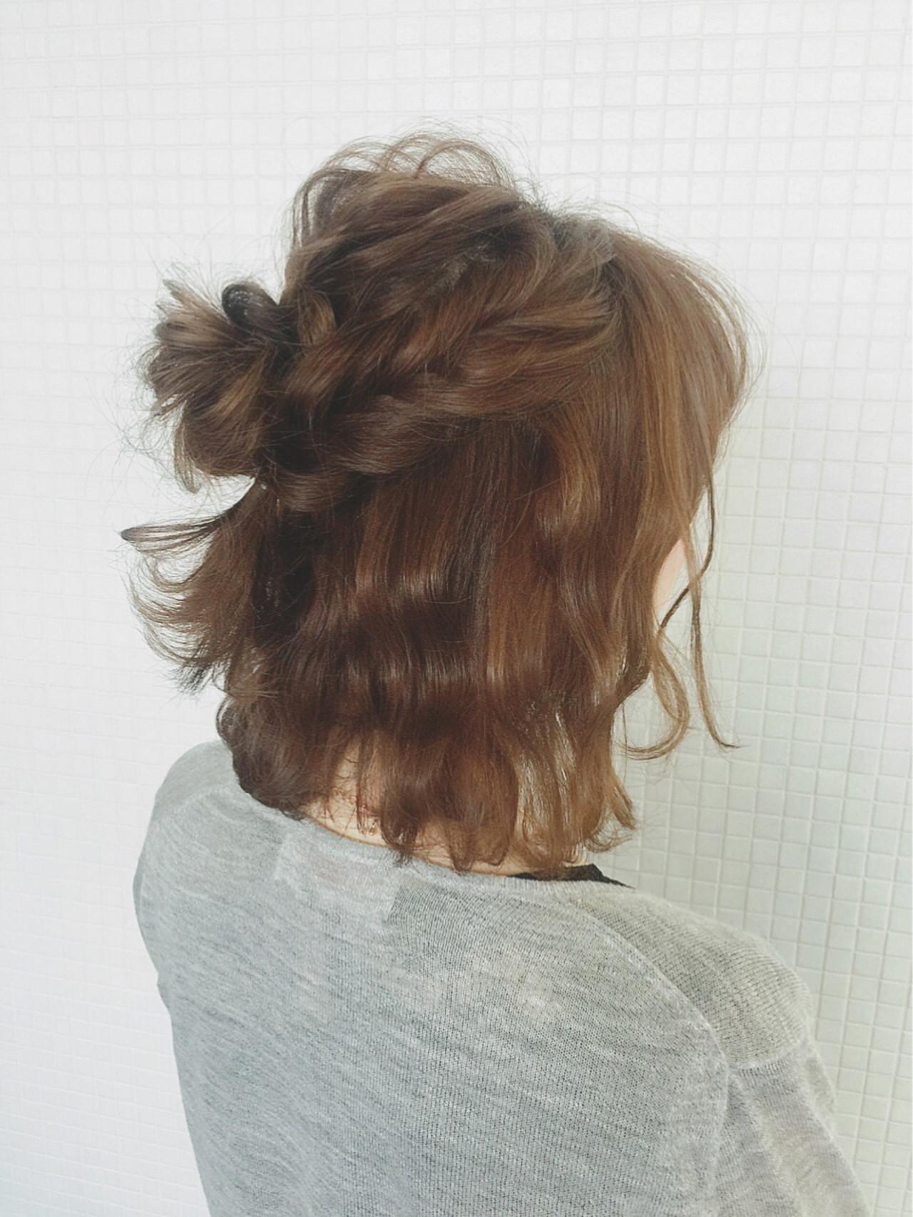 大人かわいい ヘアアレンジ ラフ ボブ ヘアスタイルや髪型の写真・画像