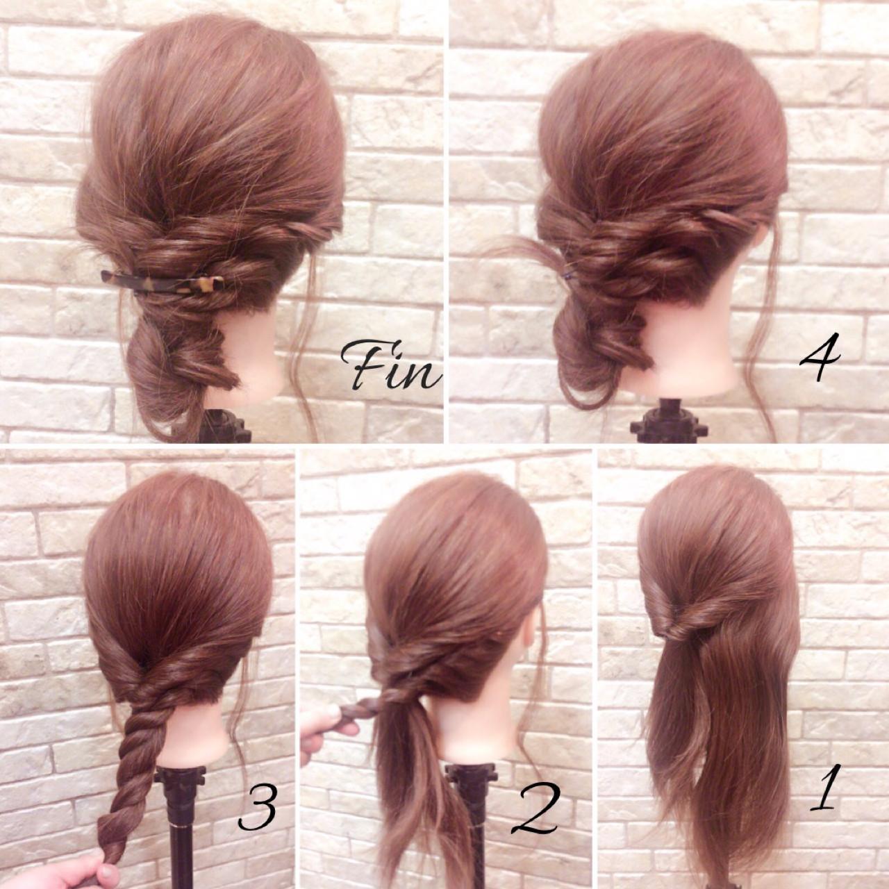 ナチュラル 簡単ヘアアレンジ 大人女子 ミディアム ヘアスタイルや髪型の写真・画像