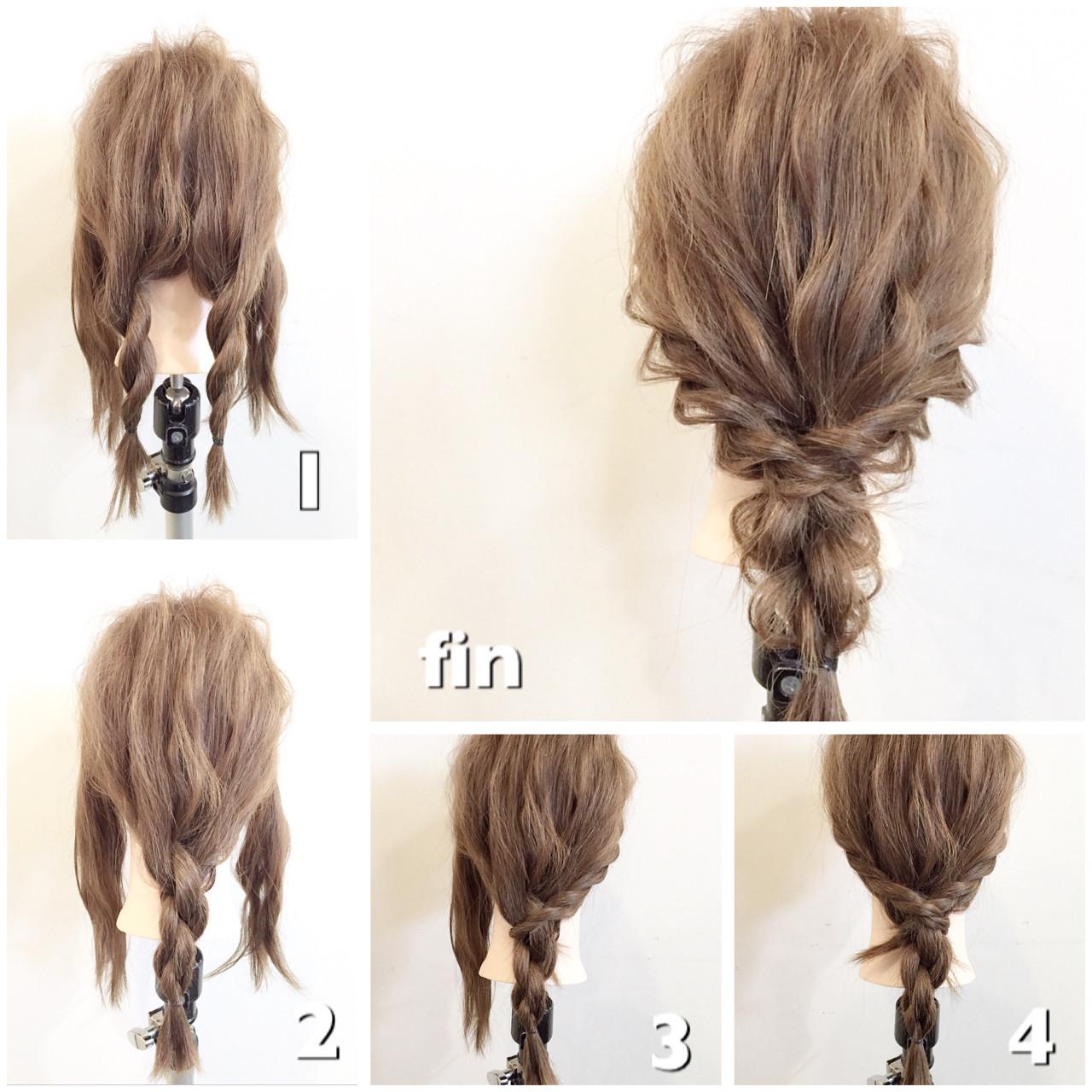 アイロンいらずの簡単アレンジ!ロープ編みで作るヘアアレンジまとめ