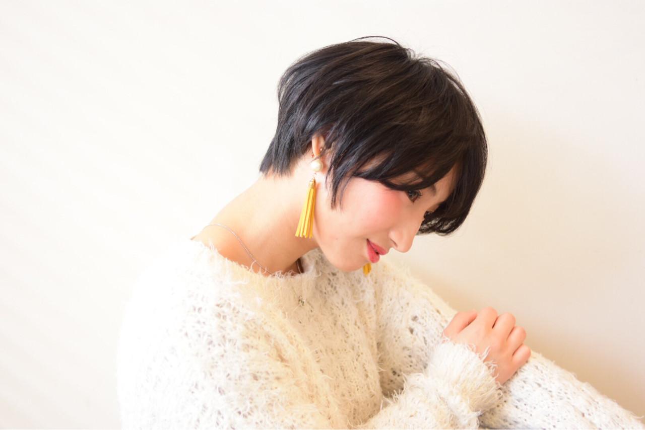 ナチュラル ショート モード ベリーショート ヘアスタイルや髪型の写真・画像
