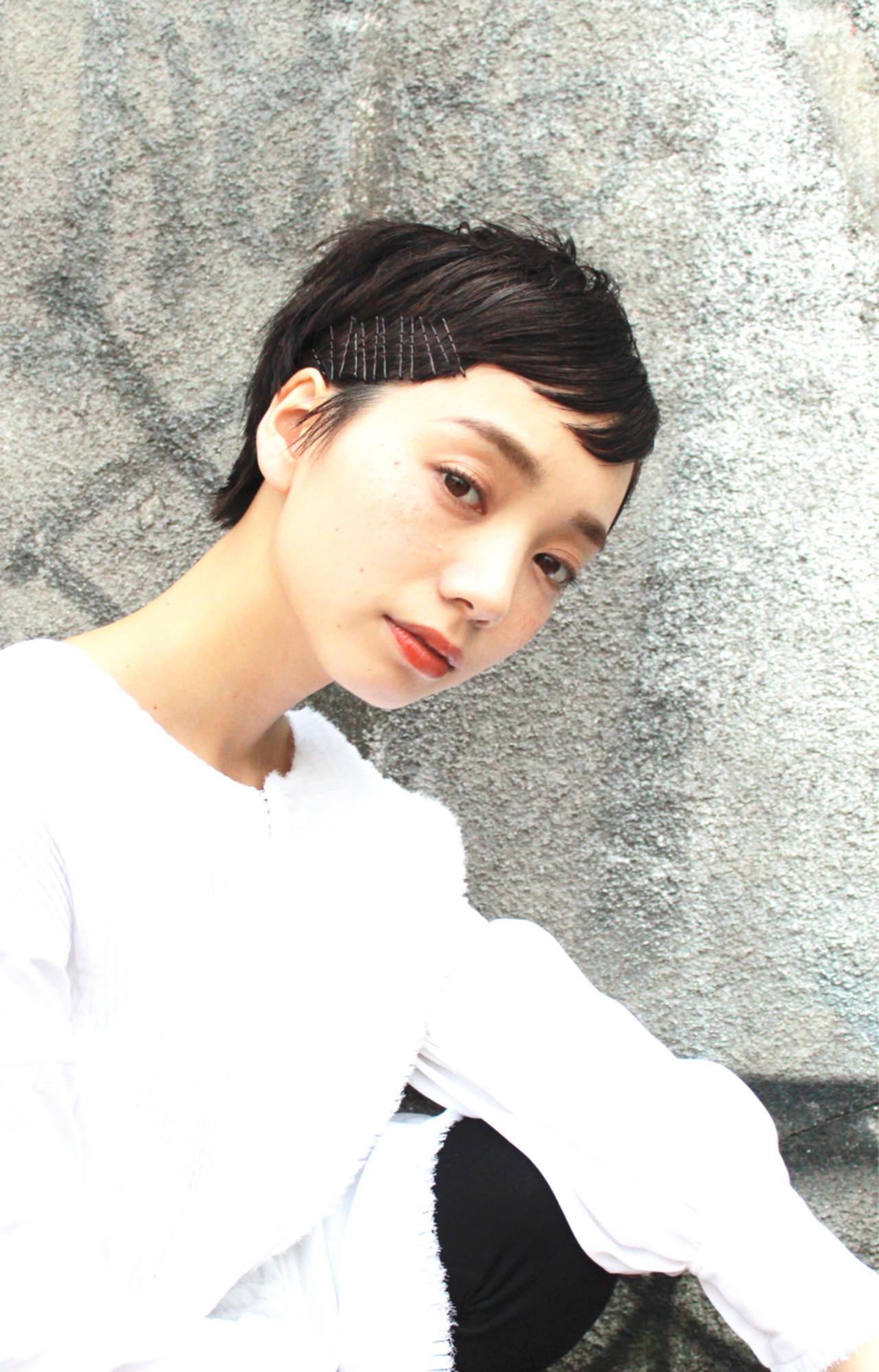 モード ショート ストリート ナチュラル ヘアスタイルや髪型の写真・画像