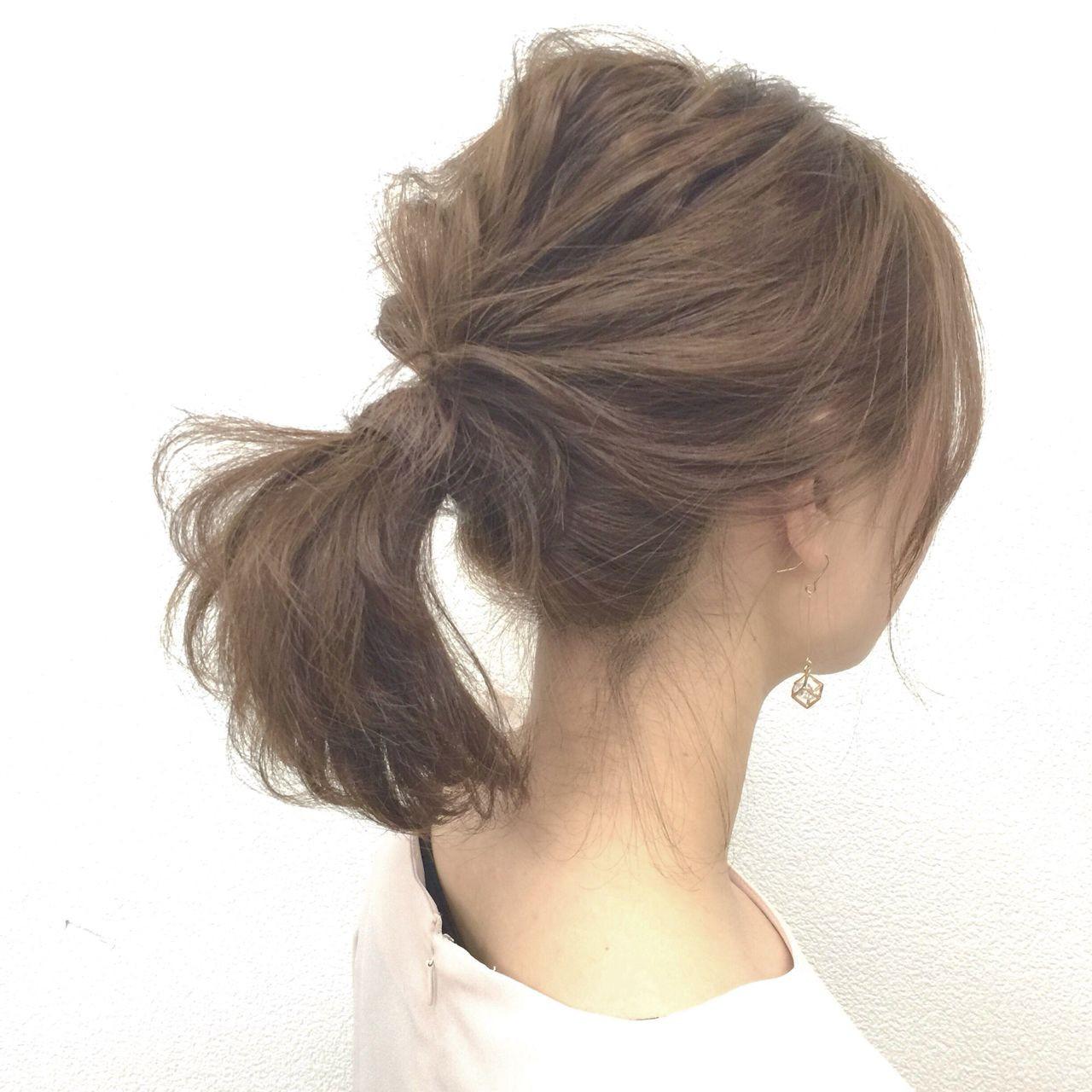 ナチュラル ポニーテール フェミニン ヘアアレンジ ヘアスタイルや髪型の写真・画像