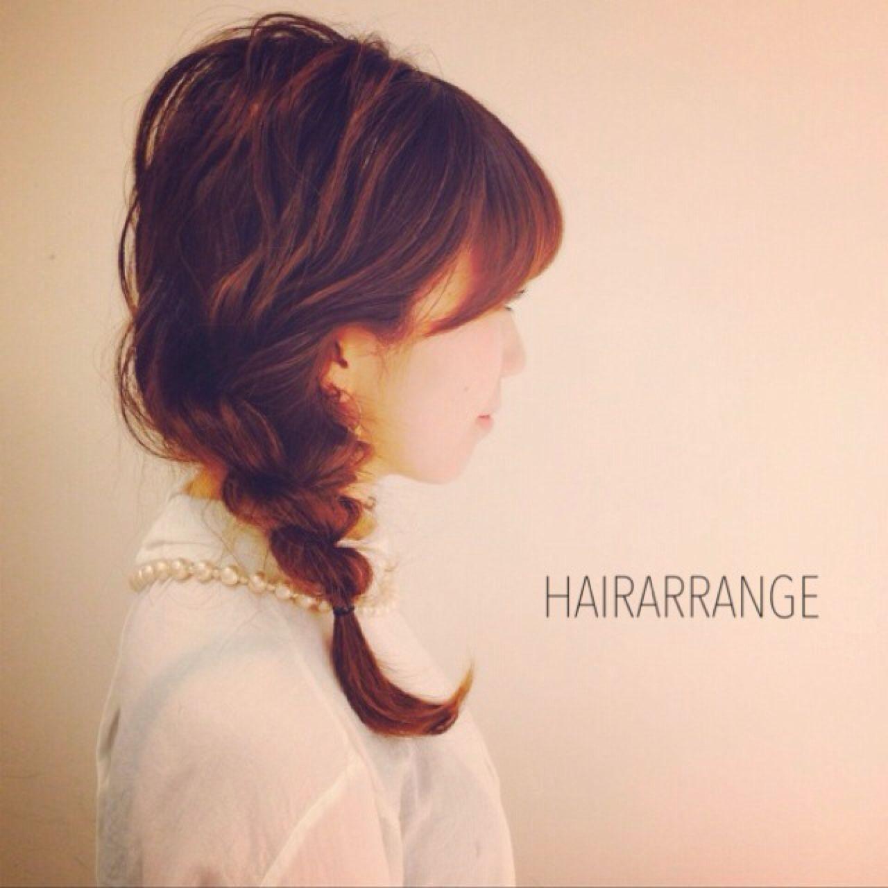 簡単ヘアアレンジ ヘアアレンジ ストリート ナチュラル ヘアスタイルや髪型の写真・画像