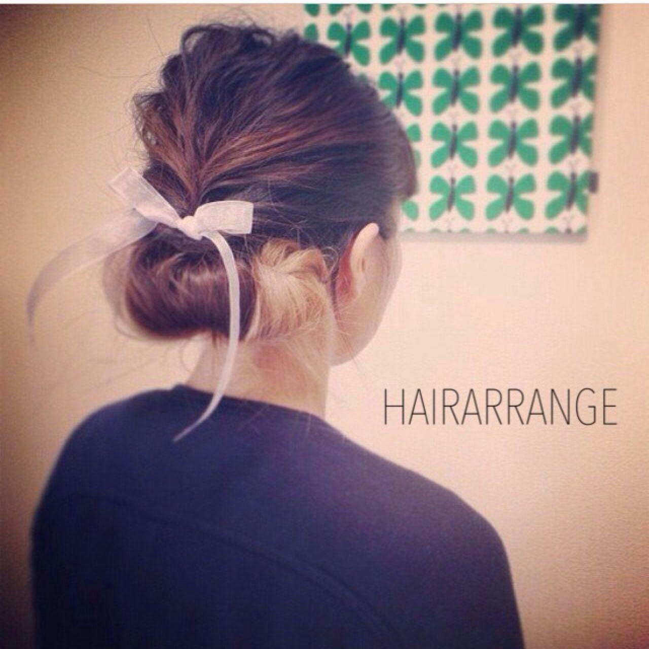 ナチュラル ストリート 簡単ヘアアレンジ ヘアアレンジ ヘアスタイルや髪型の写真・画像