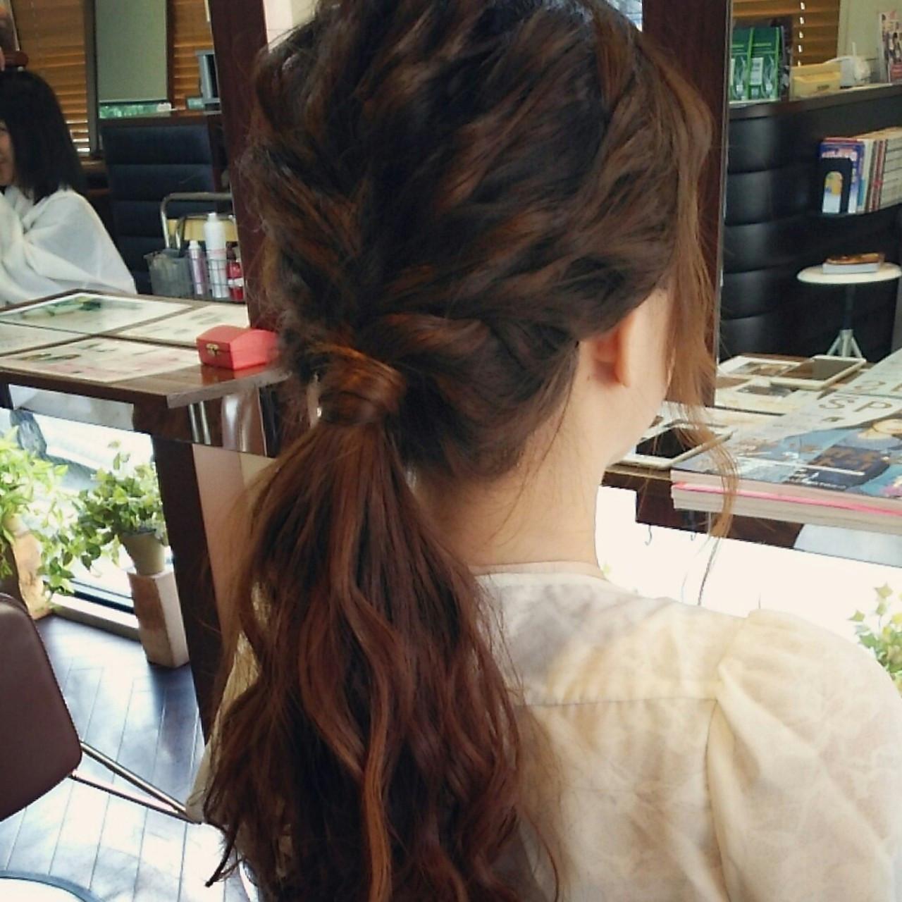 簡単ヘアアレンジ ポニーテール ショート 簡単 ヘアスタイルや髪型の写真・画像