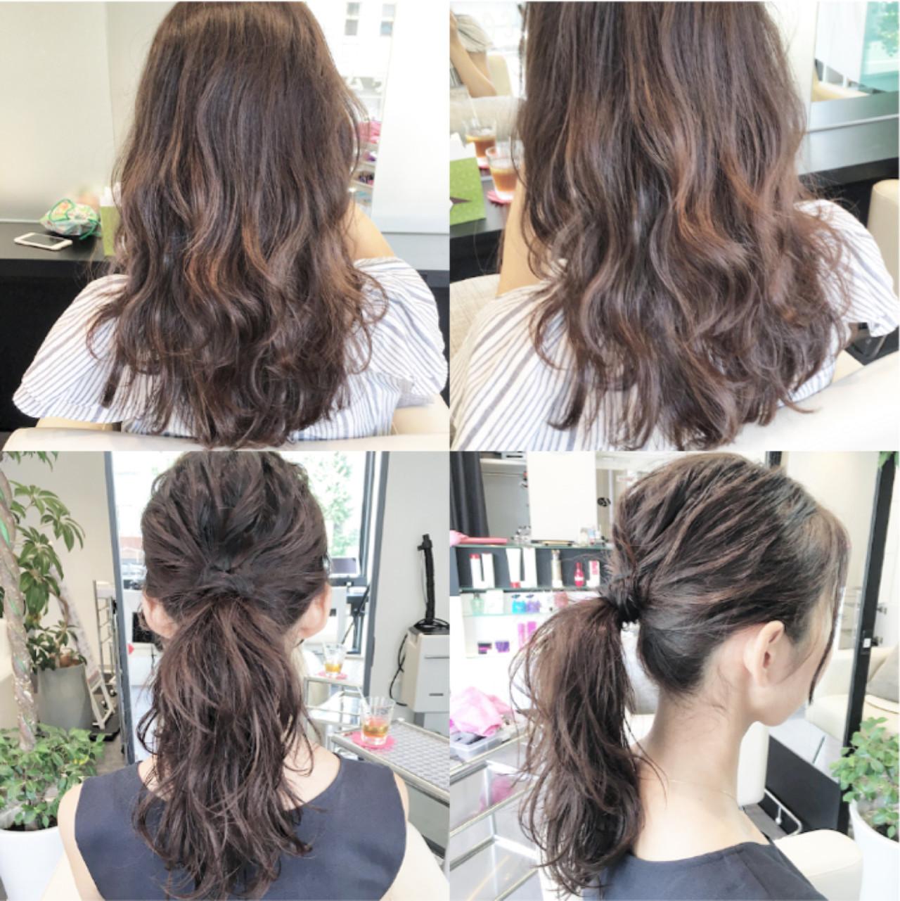 まとめ髪 コンサバ 簡単 セミロング ヘアスタイルや髪型の写真・画像