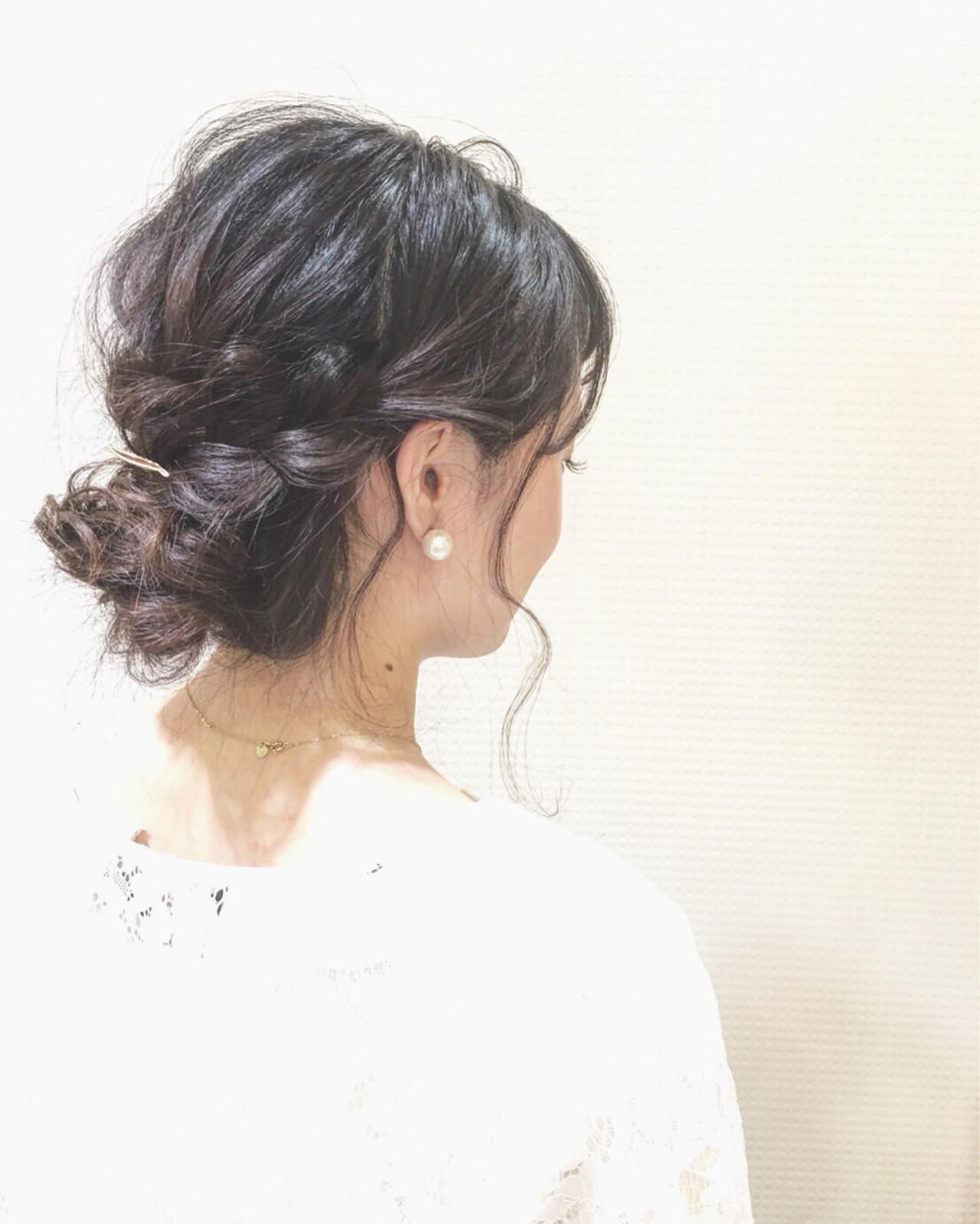 セミロング ショート 大人かわいい 簡単ヘアアレンジ ヘアスタイルや髪型の写真・画像