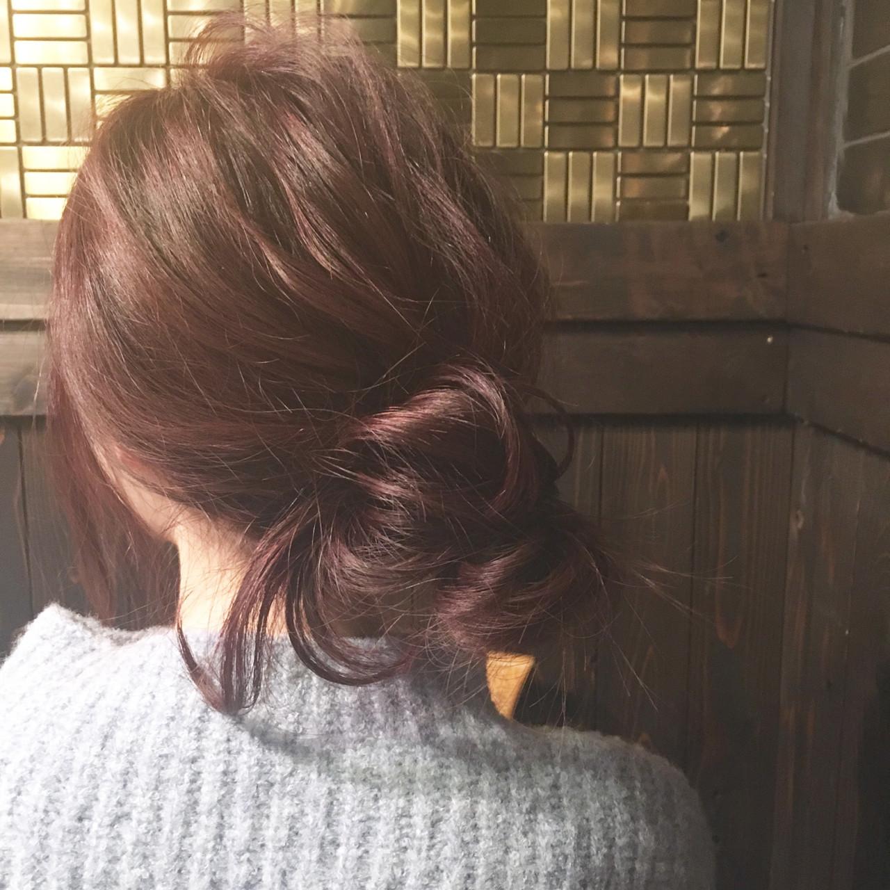 ショート ヘアアレンジ 簡単ヘアアレンジ 暗髪 ヘアスタイルや髪型の写真・画像