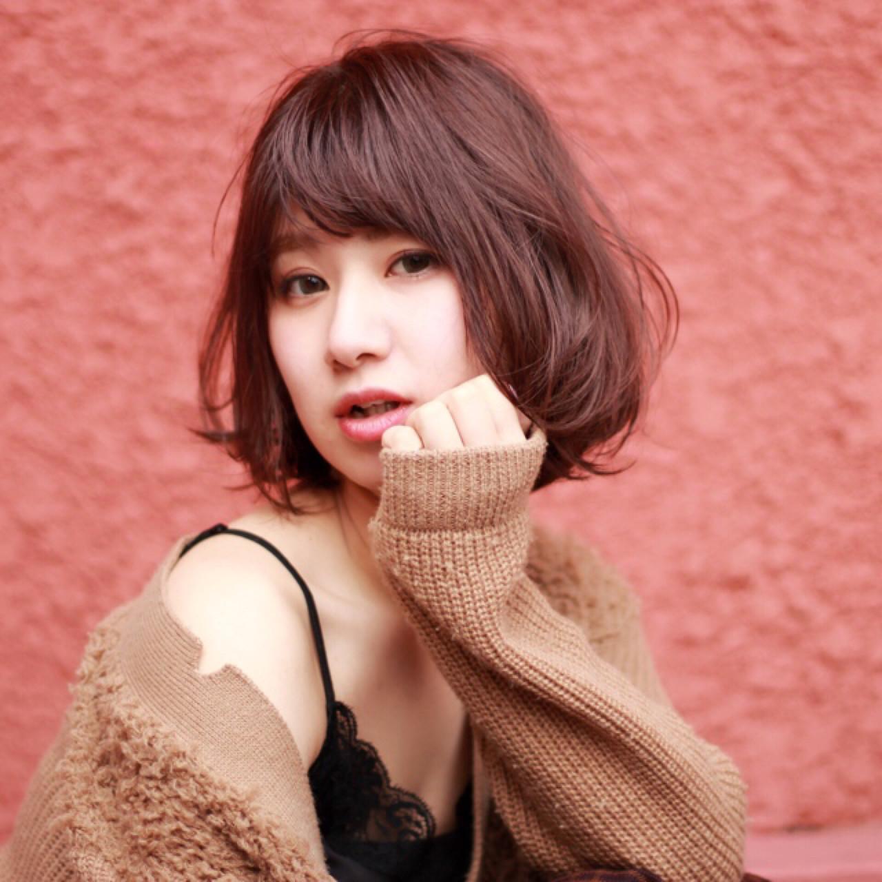 ゆるふわ ガーリー 色気 パープル ヘアスタイルや髪型の写真・画像
