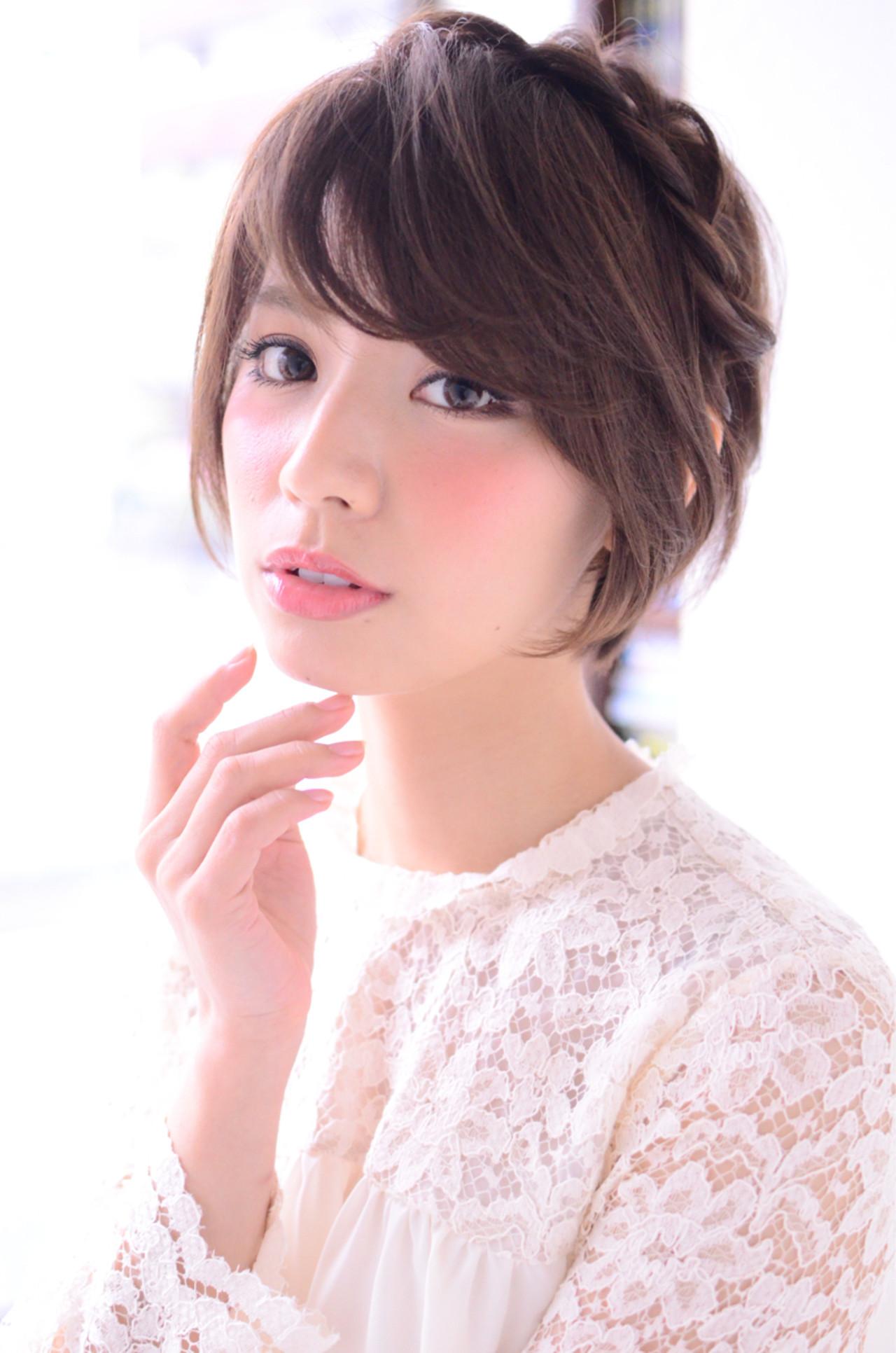 特別な日のスタイリング。意外と簡単にできるショートヘアアレンジ♡ Kasumi Nishimoto