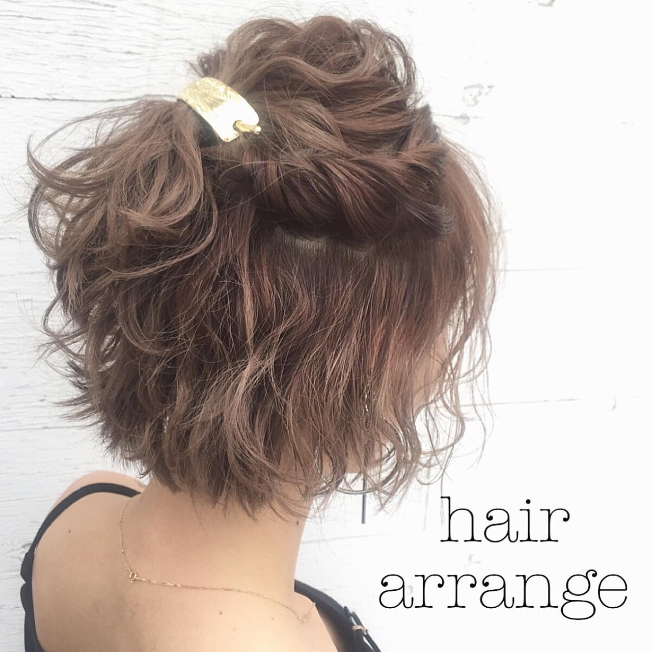 特別な日のスタイリング。意外と簡単にできるショートヘアアレンジ♡ 落合 健二