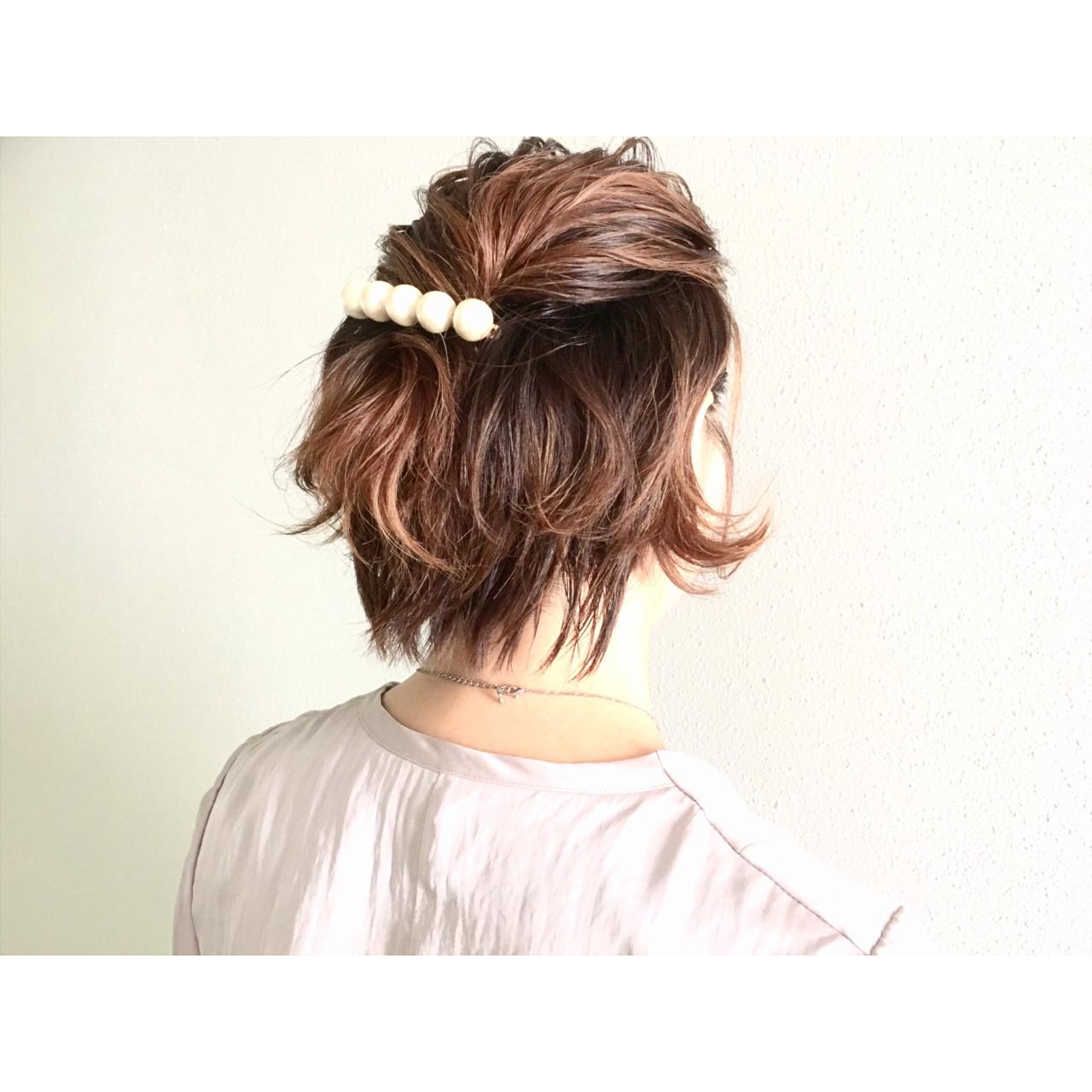 特別な日のスタイリング。意外と簡単にできるショートヘアアレンジ♡ 廣長 毅