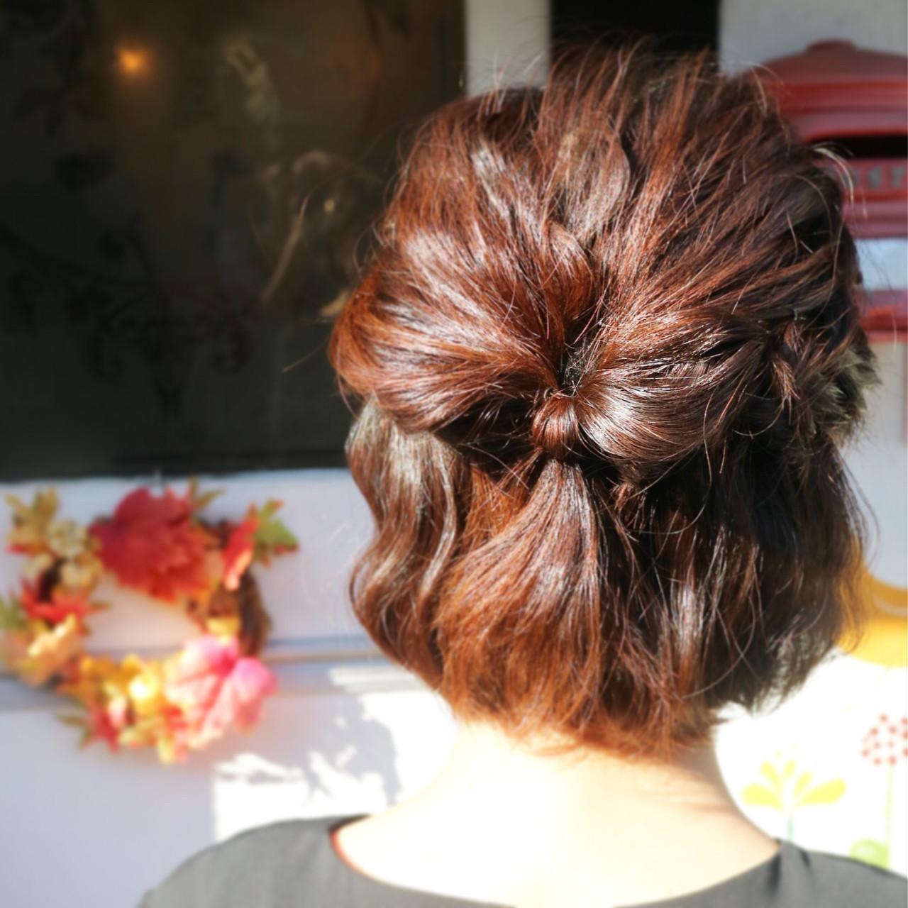 特別な日のスタイリング。意外と簡単にできるショートヘアアレンジ♡ 伊藤 絵理