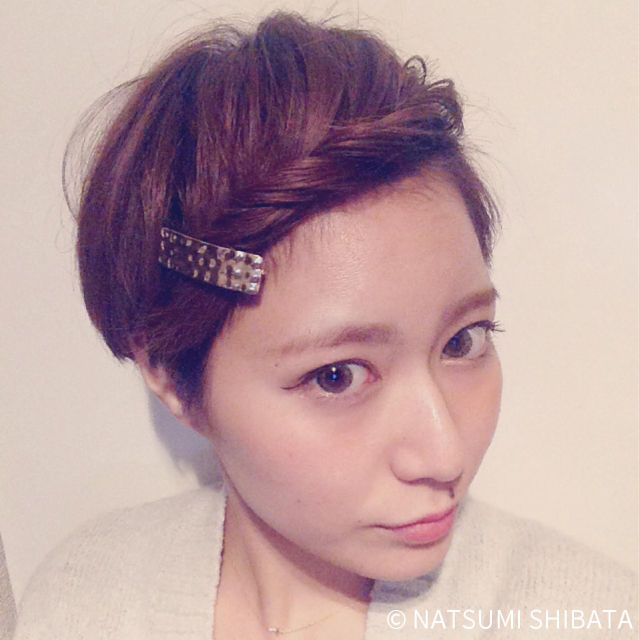特別な日のスタイリング。意外と簡単にできるショートヘアアレンジ♡ NATSUMI SHIBATA