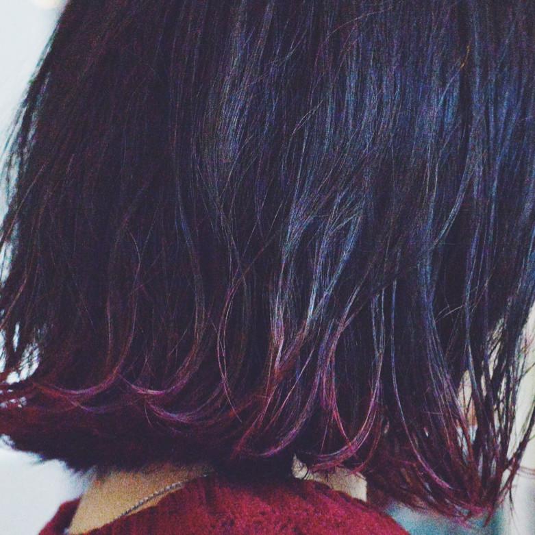 手抜きでもおしゃれにみえる魔法のスタイル黒髪グラデーション♡