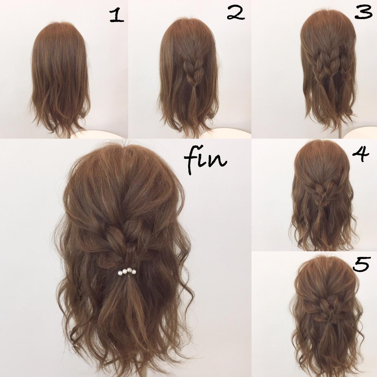 ヘアアレンジ ショート 大人女子 ミディアム ヘアスタイルや髪型の写真・画像