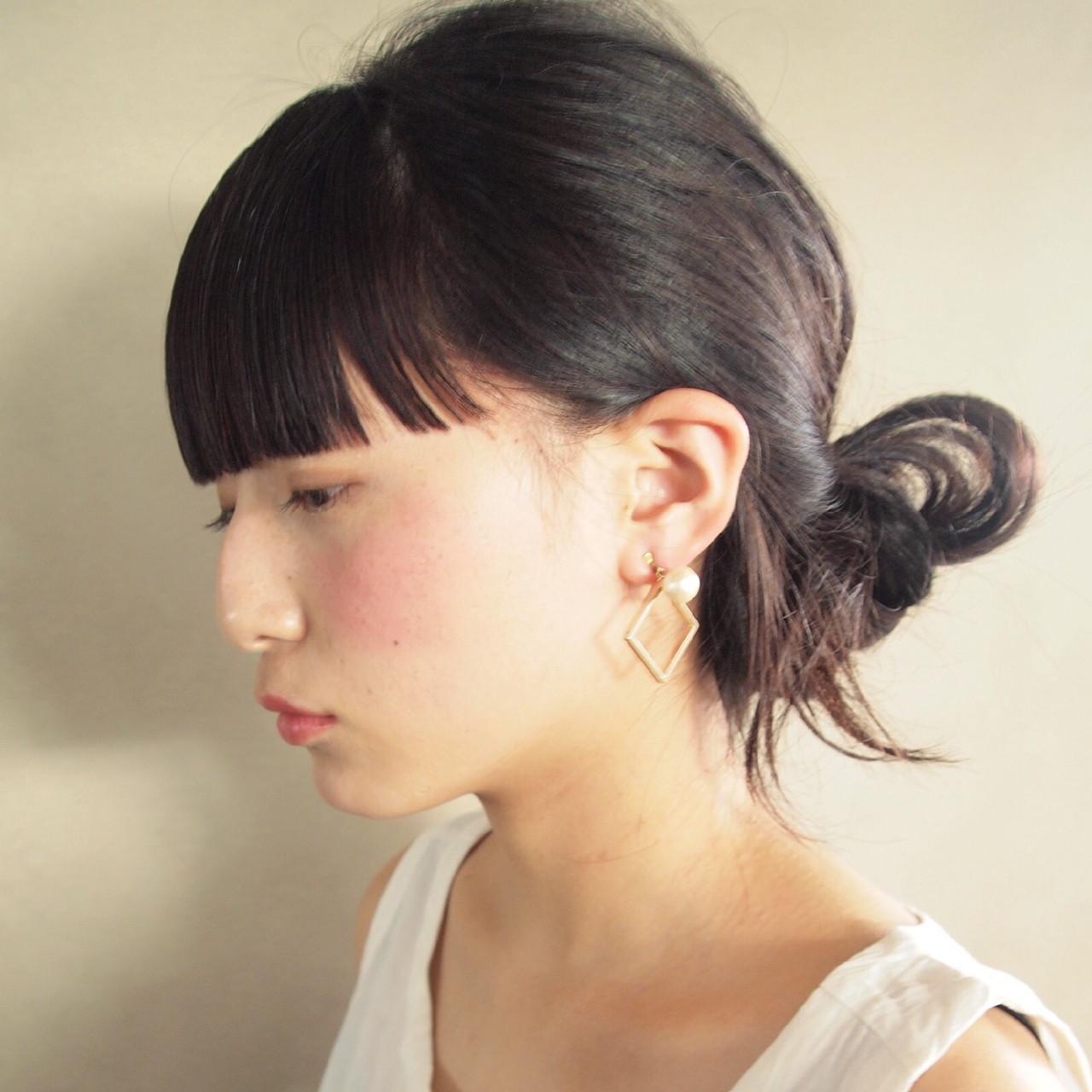 ぱっつん前髪がかわいい♡アレンジのやり方とヘアスタイル 高橋 忍