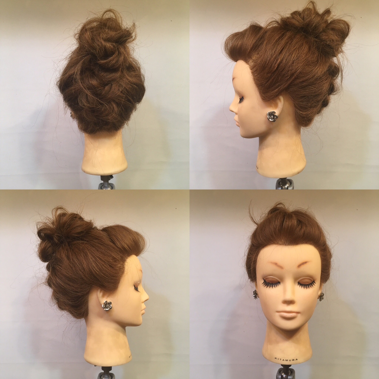 セミロング ヘアアレンジ 編み込み 裏編み込み ヘアスタイルや髪型の写真・画像
