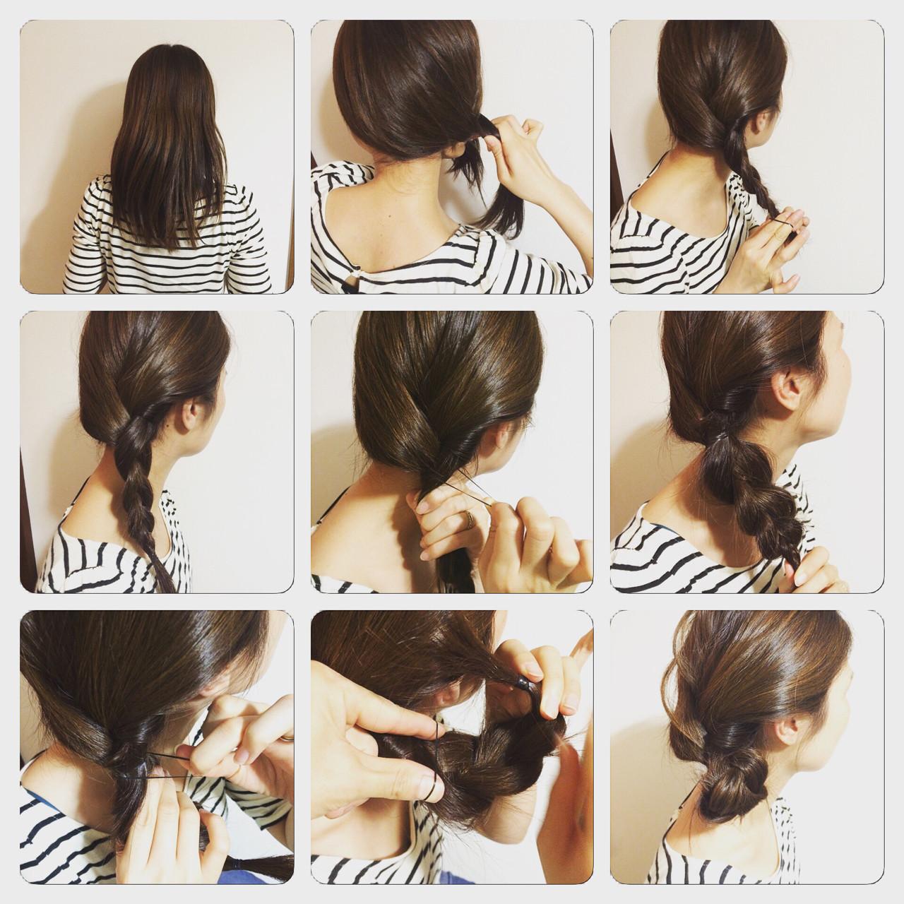 シニヨン ショート ヘアアレンジ 簡単ヘアアレンジ ヘアスタイルや髪型の写真・画像