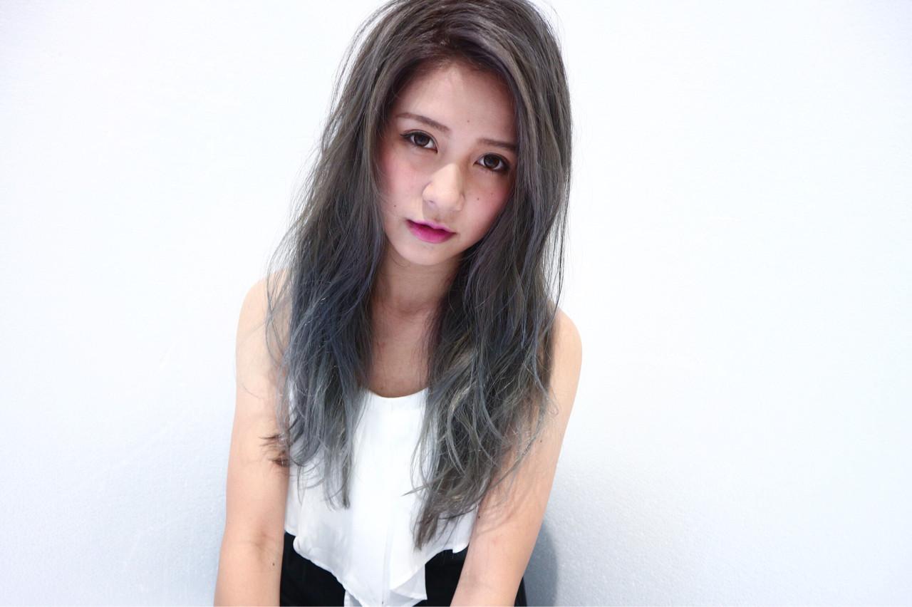 渋谷系 ミディアム ハイトーン 外国人風 ヘアスタイルや髪型の写真・画像