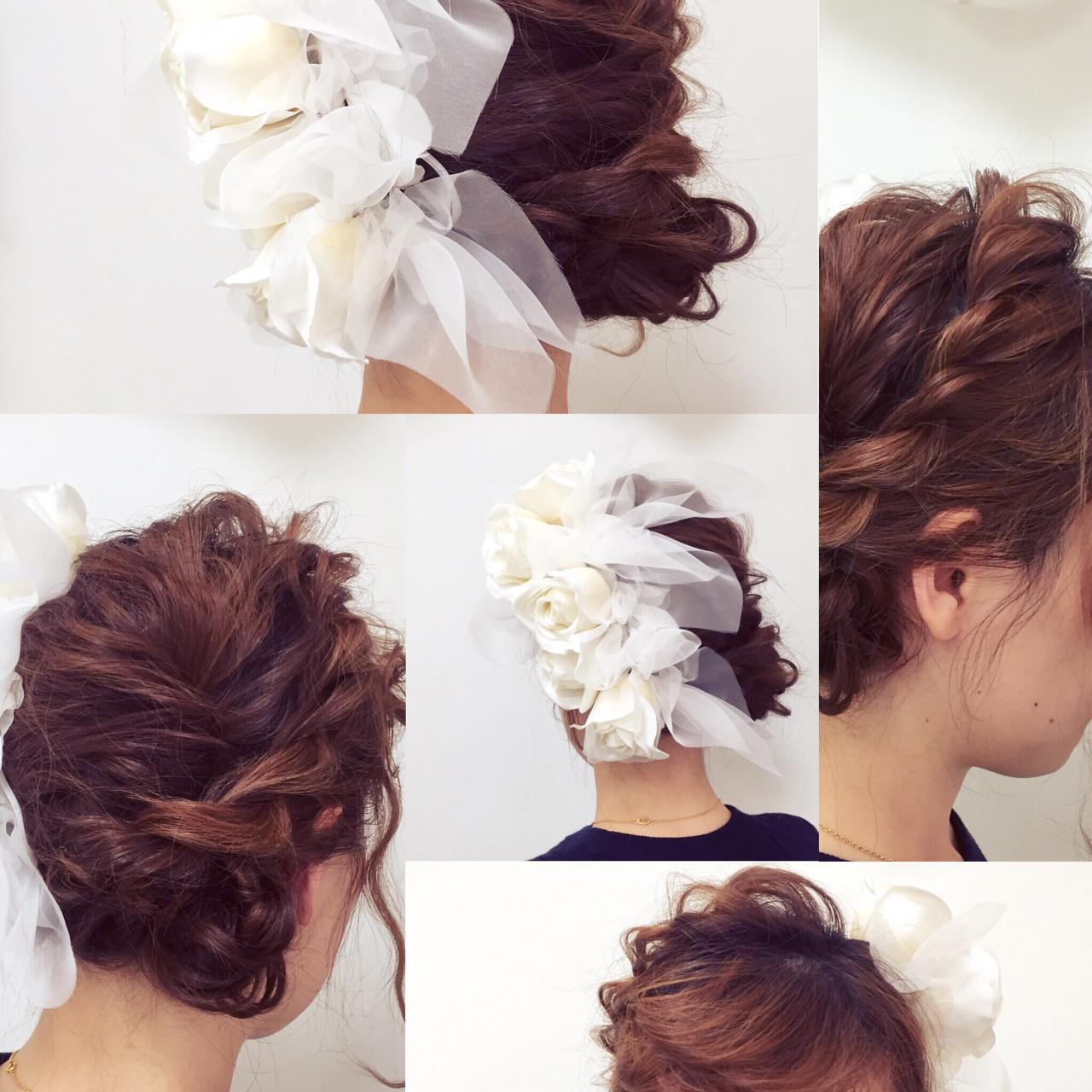 お花がたくさん♡結婚式にピッタリな華やかなヘアアレンジ特集 北島 玲那