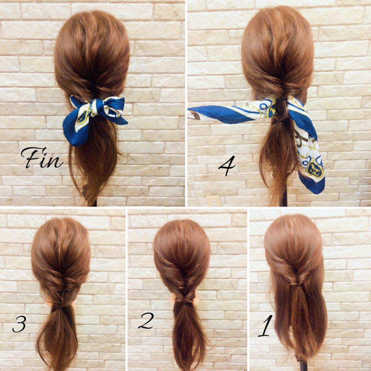 ヘアアクセ 簡単ヘアアレンジ ナチュラル ヘアアレンジ ヘアスタイルや髪型の写真・画像