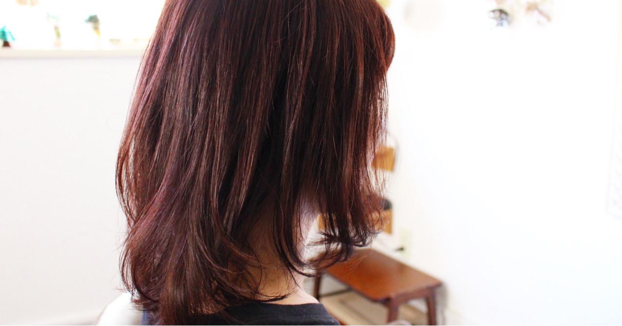 ピンク パープル 冬 ナチュラル ヘアスタイルや髪型の写真・画像