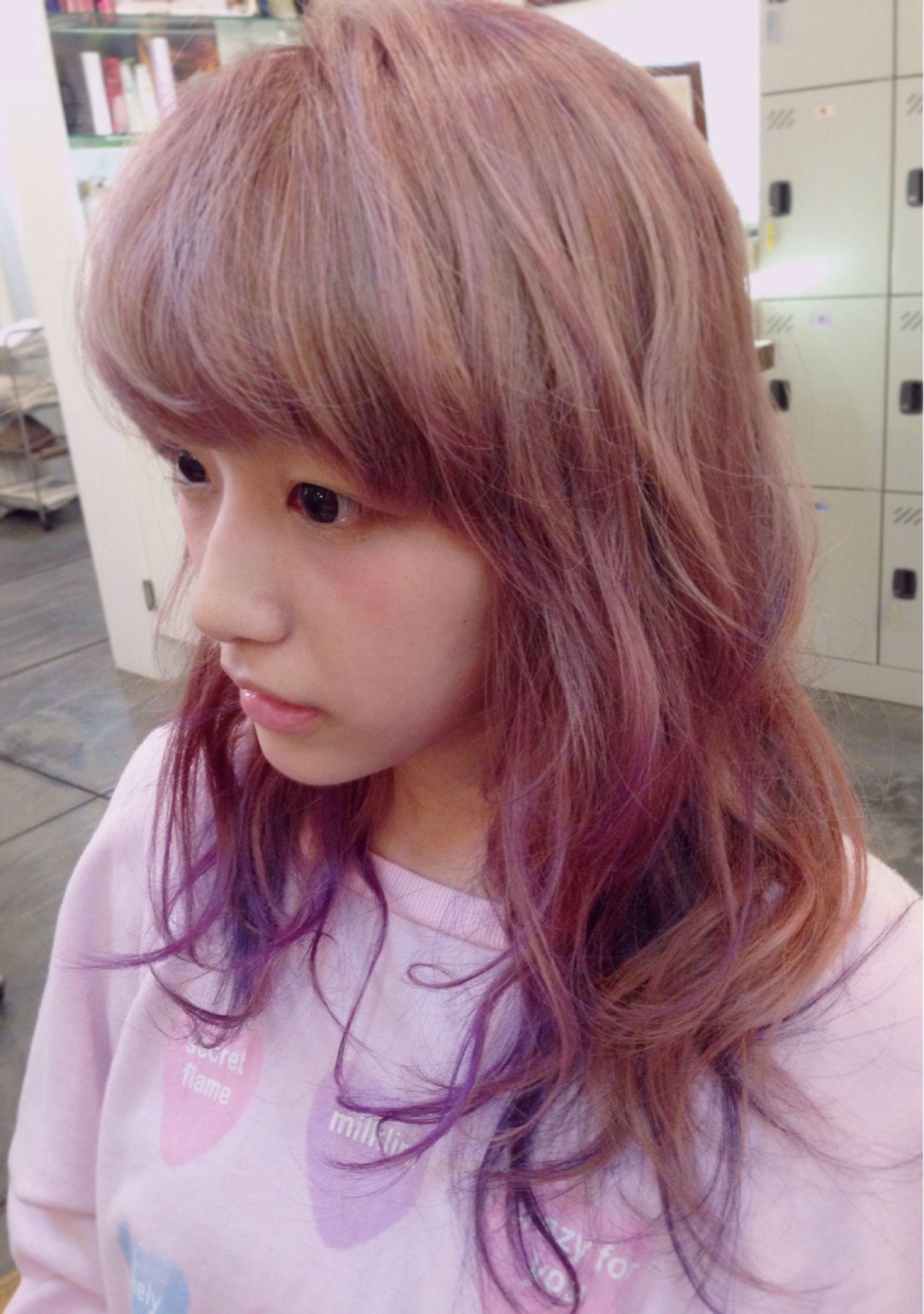 髪色ピンクで春はじめました♡ほんのり系もネオ系も叶う女子カラー 野口 輝/vicushair