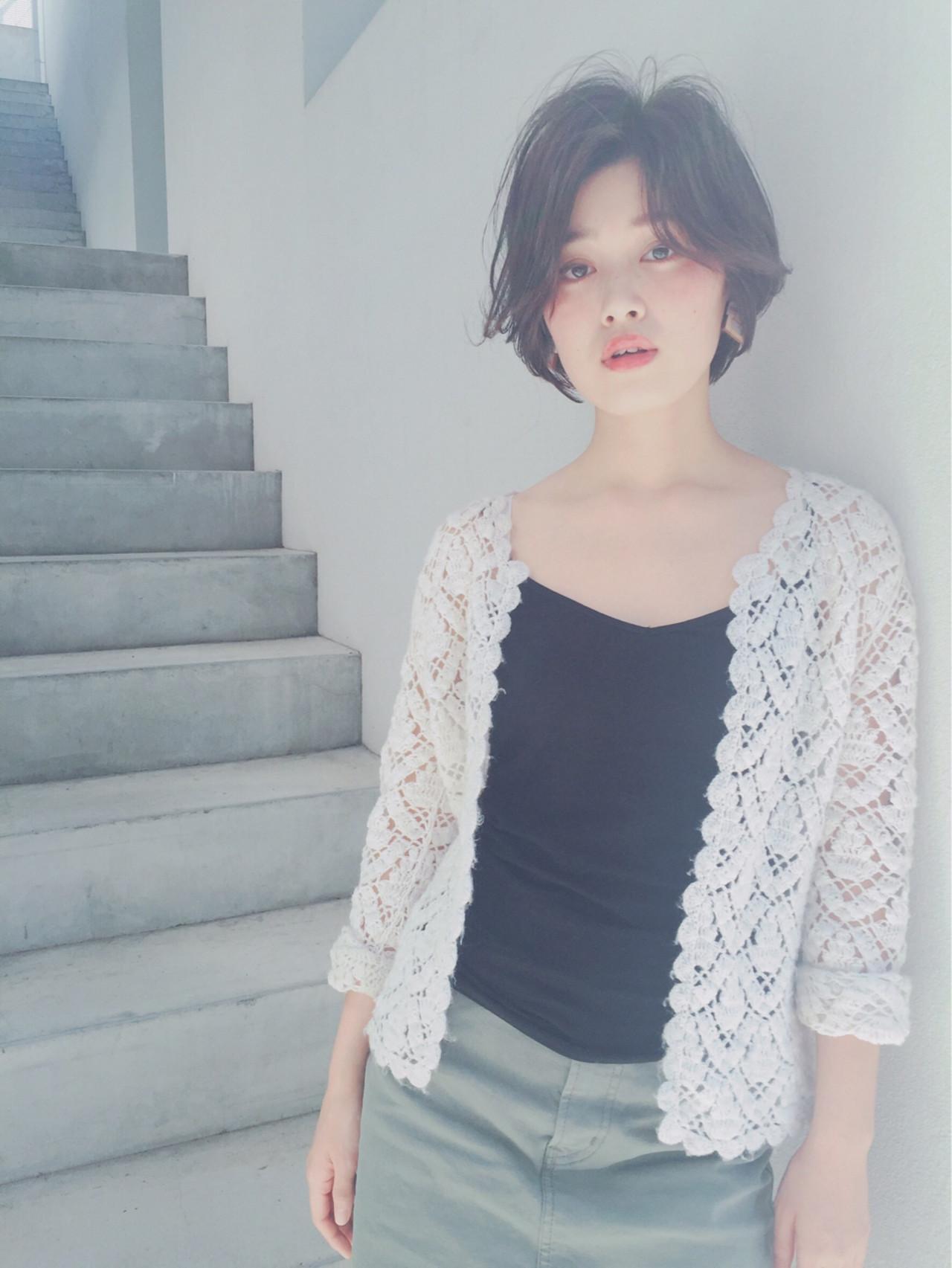 大人女子のボブはかきあげ風で色っぽく仕上げる  OYAMA KENICHI