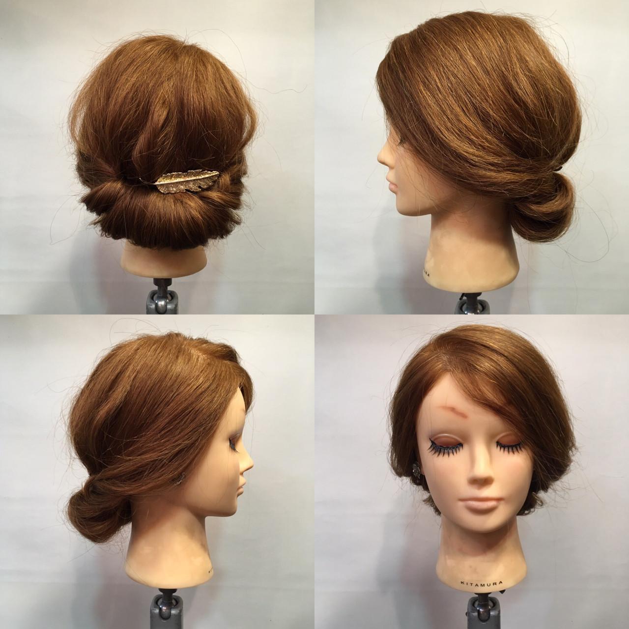 波ウェーブ ギブソンタック セミロング ラフ ヘアスタイルや髪型の写真・画像