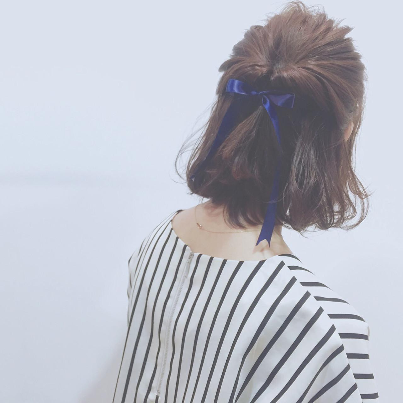 ミディアムヘア♡簡単アップスタイルの7日間【解説付き】  勝田祐介