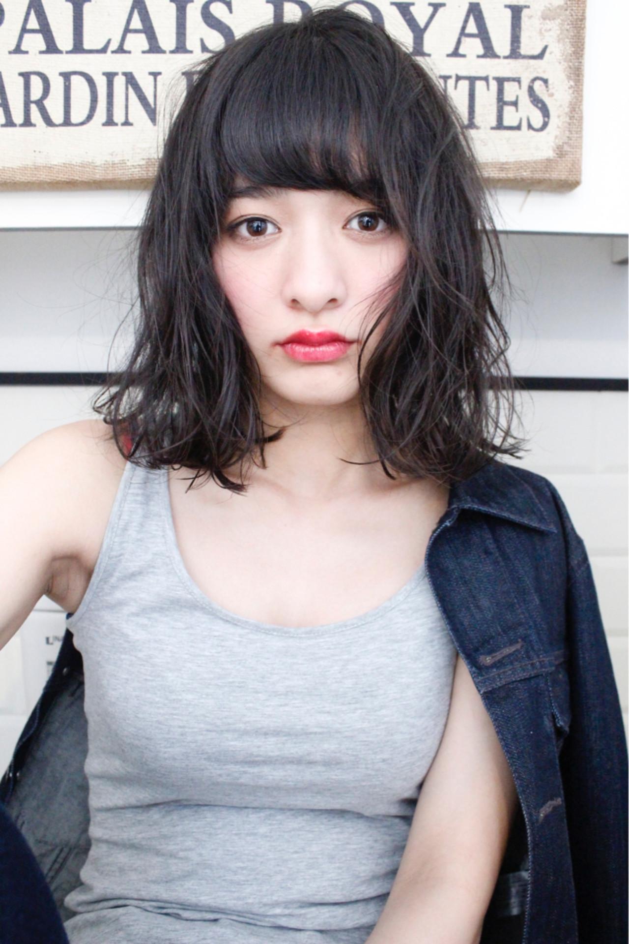 黒髪美人スタイルで今年の春夏を迎えよう♡しなやかな黒髪ヘアカタログ 上田智久 LaRica