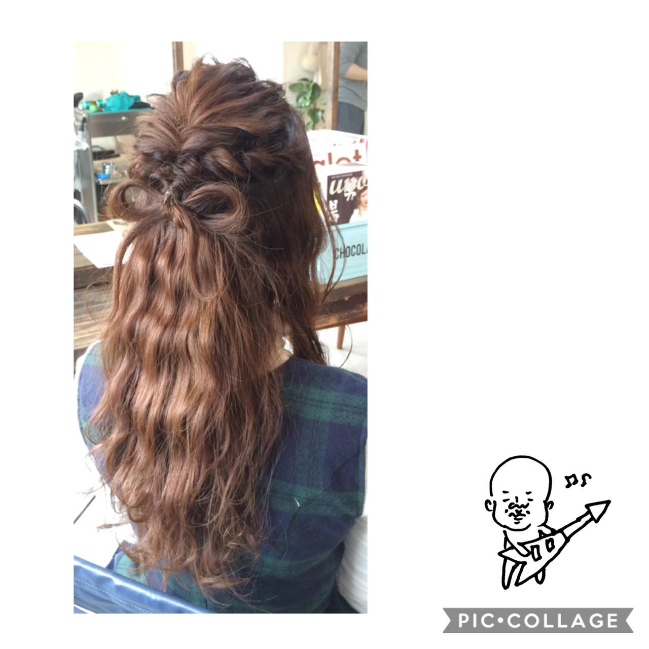 ヘアアレンジ ロング ハーフアップ ヘアスタイルや髪型の写真・画像