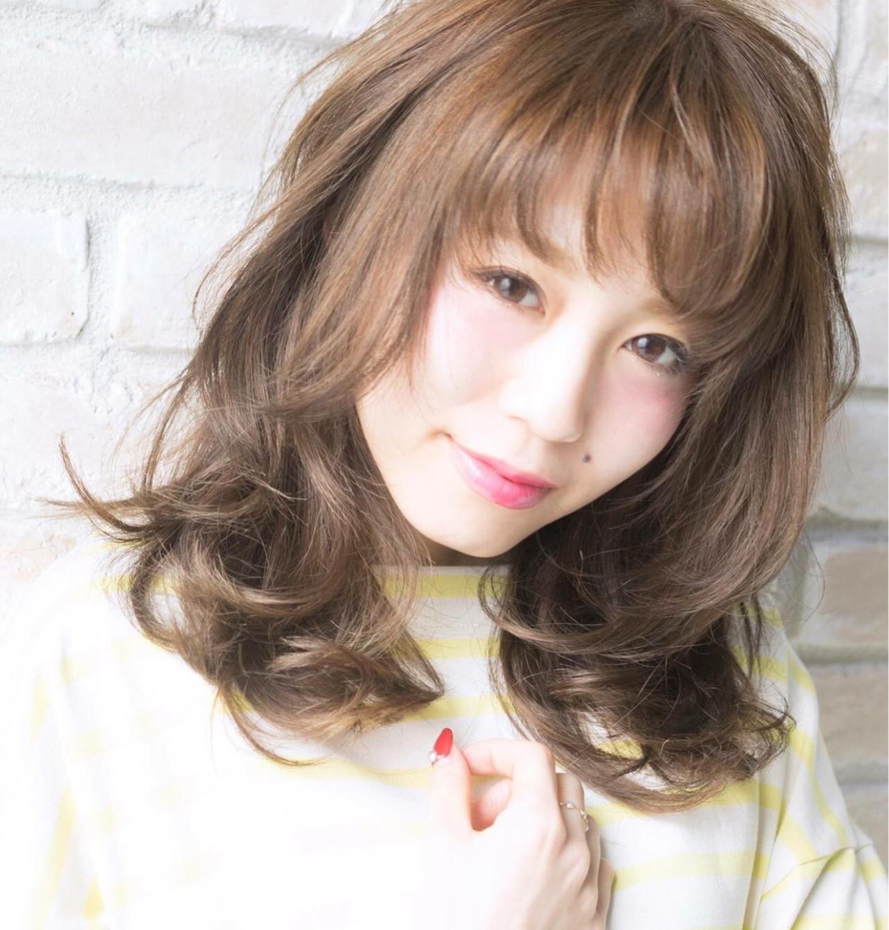 ガーリー 可愛い フェミニン  ヘアスタイルや髪型の写真・画像
