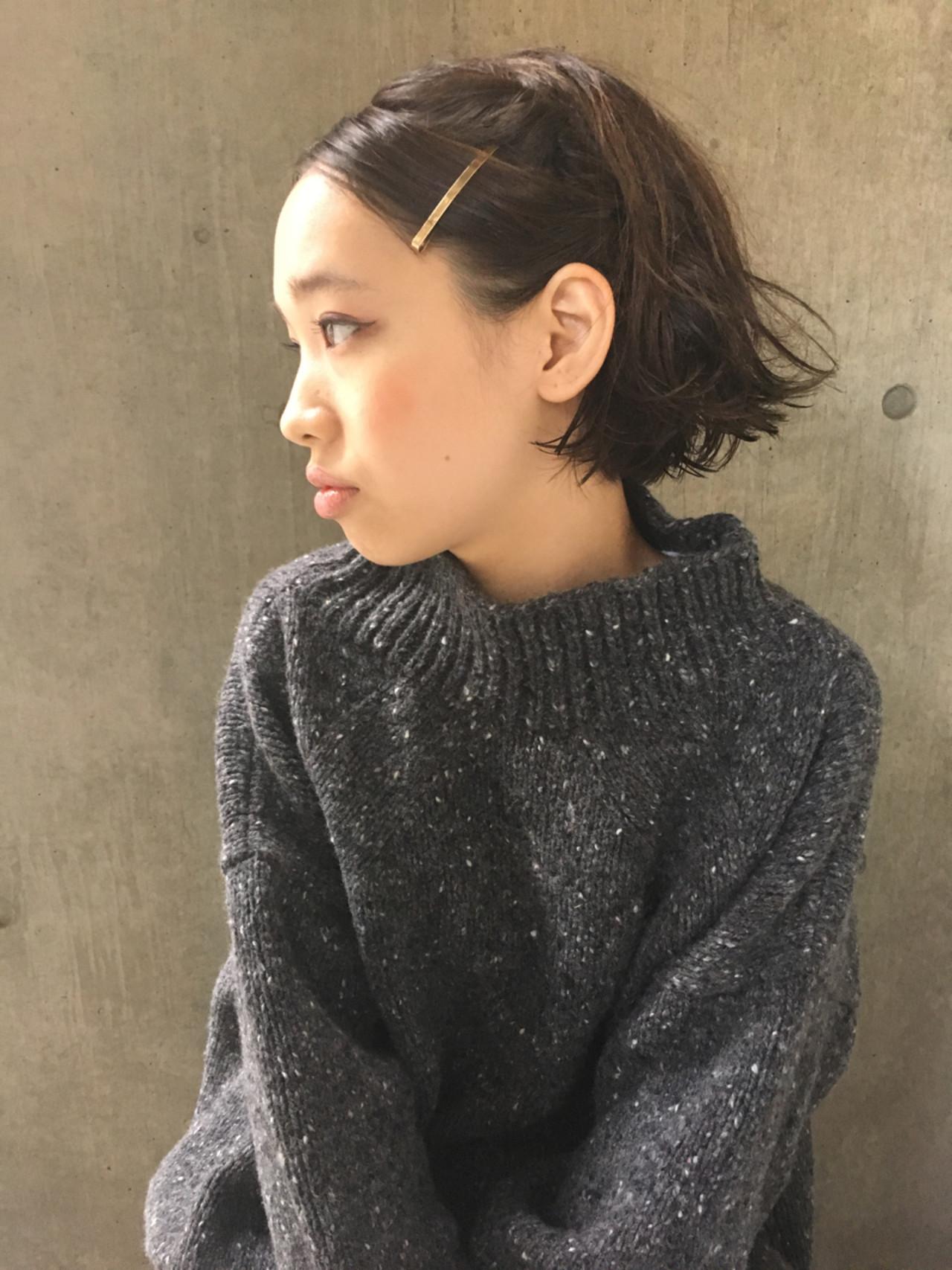 オルチャンから大人気!黒髪の切りっぱなしボブスタイル♡ 永井 美菜子 bibito