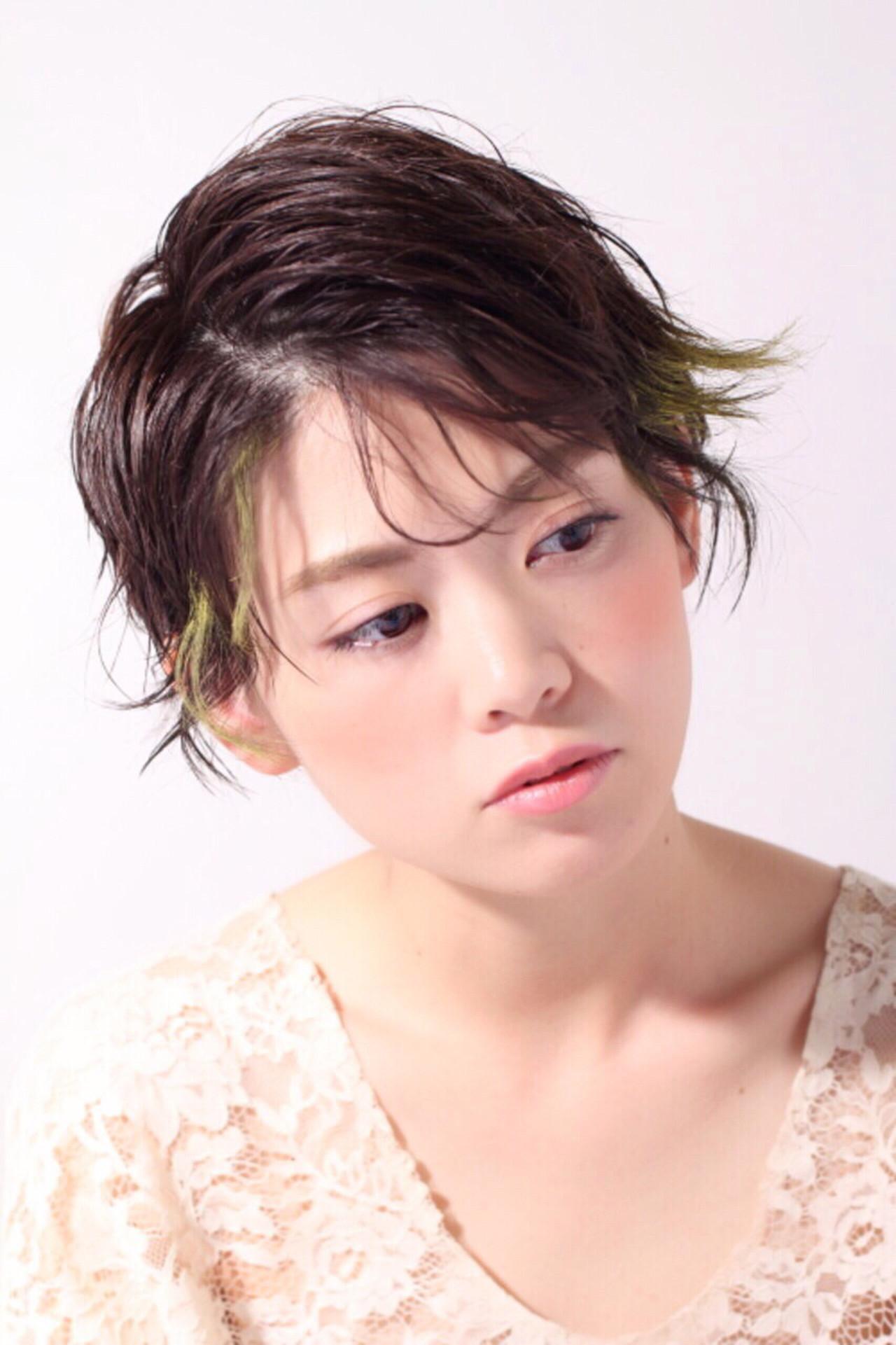 こなれ感 大人女子 ショート ナチュラル ヘアスタイルや髪型の写真・画像