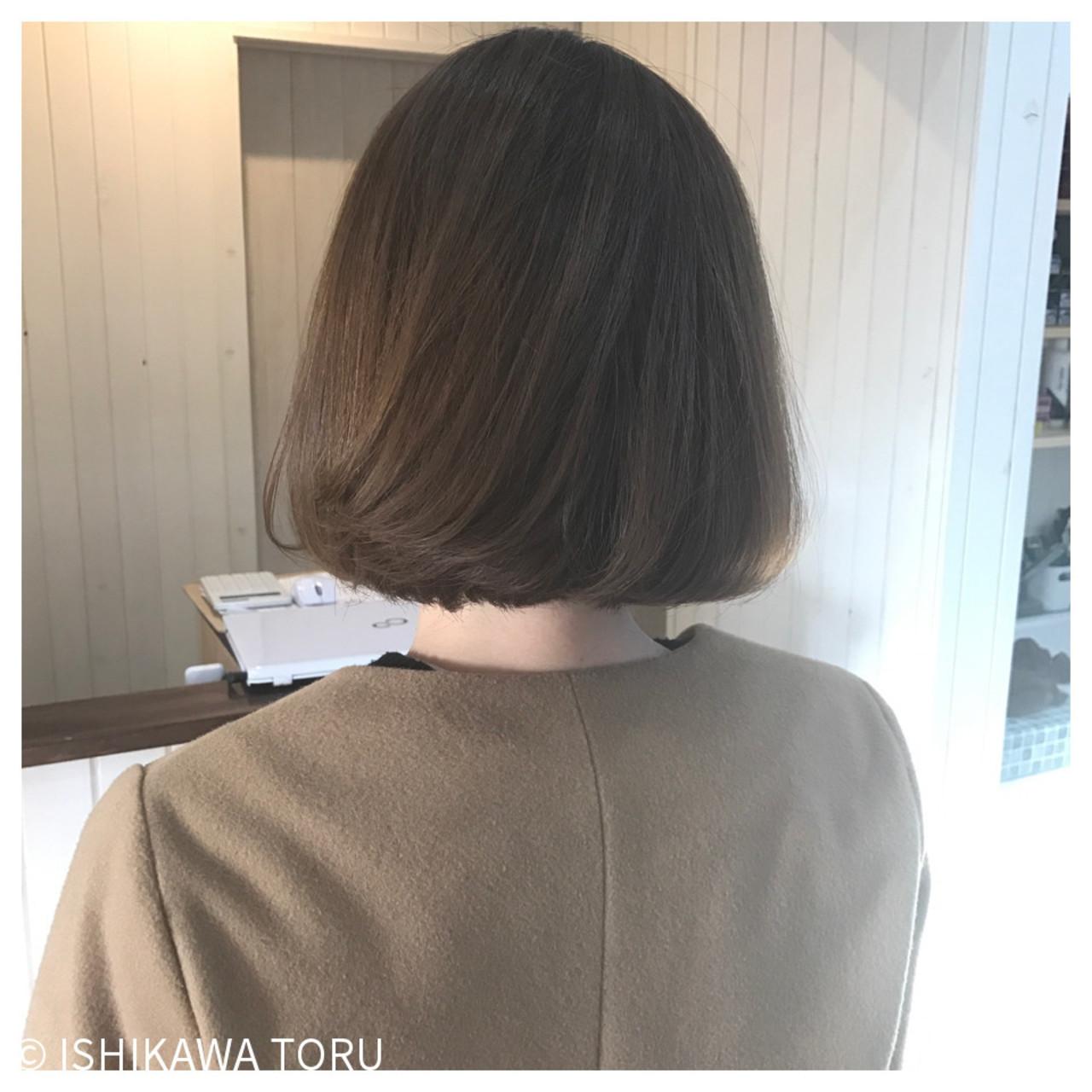 ナチュラル 大人女子 内巻き ボブ ヘアスタイルや髪型の写真・画像