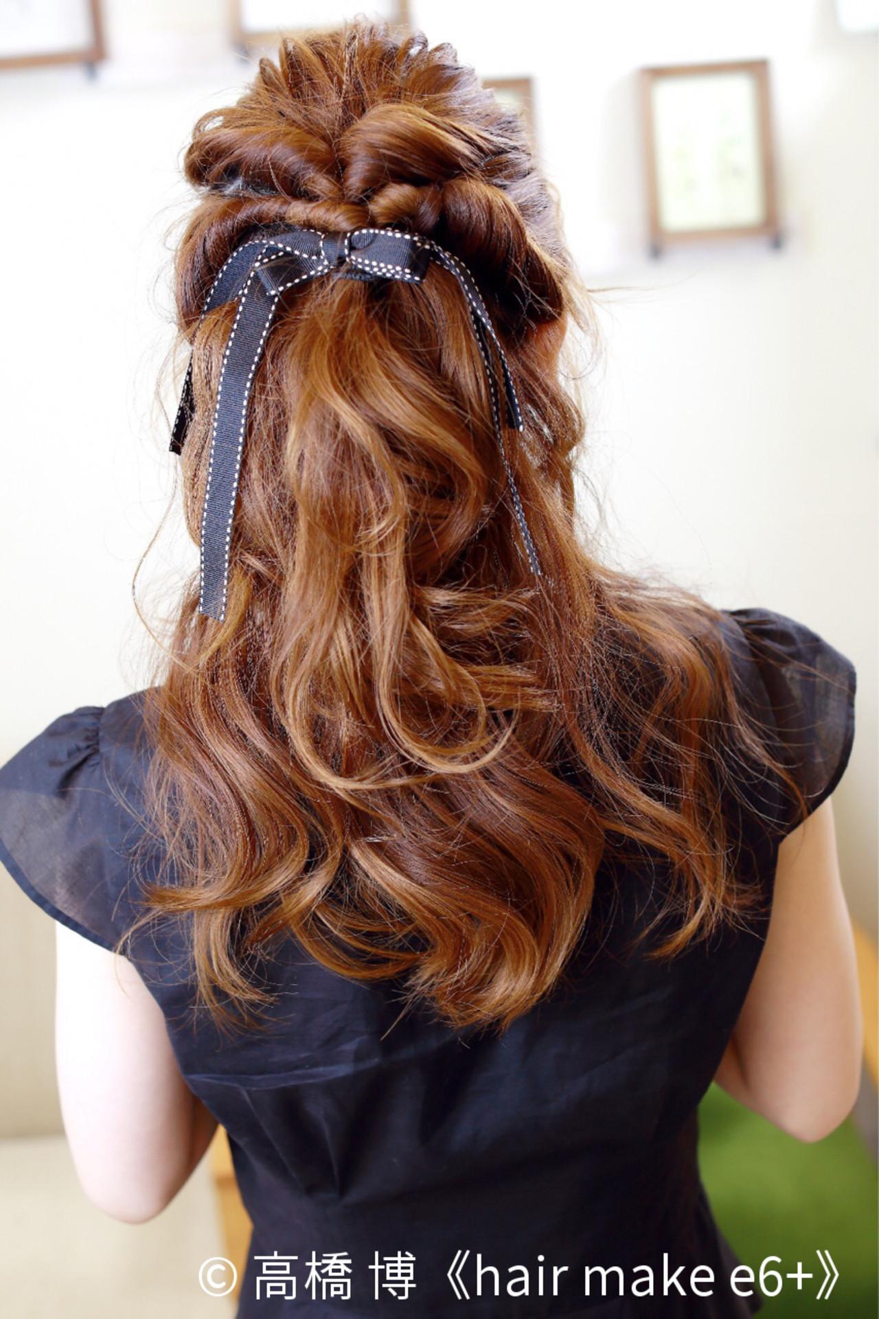 「ハーフアップ」×「くるりんぱ」で最強にモテるヘアアレンジ特集 高橋 博《hair make e6+》