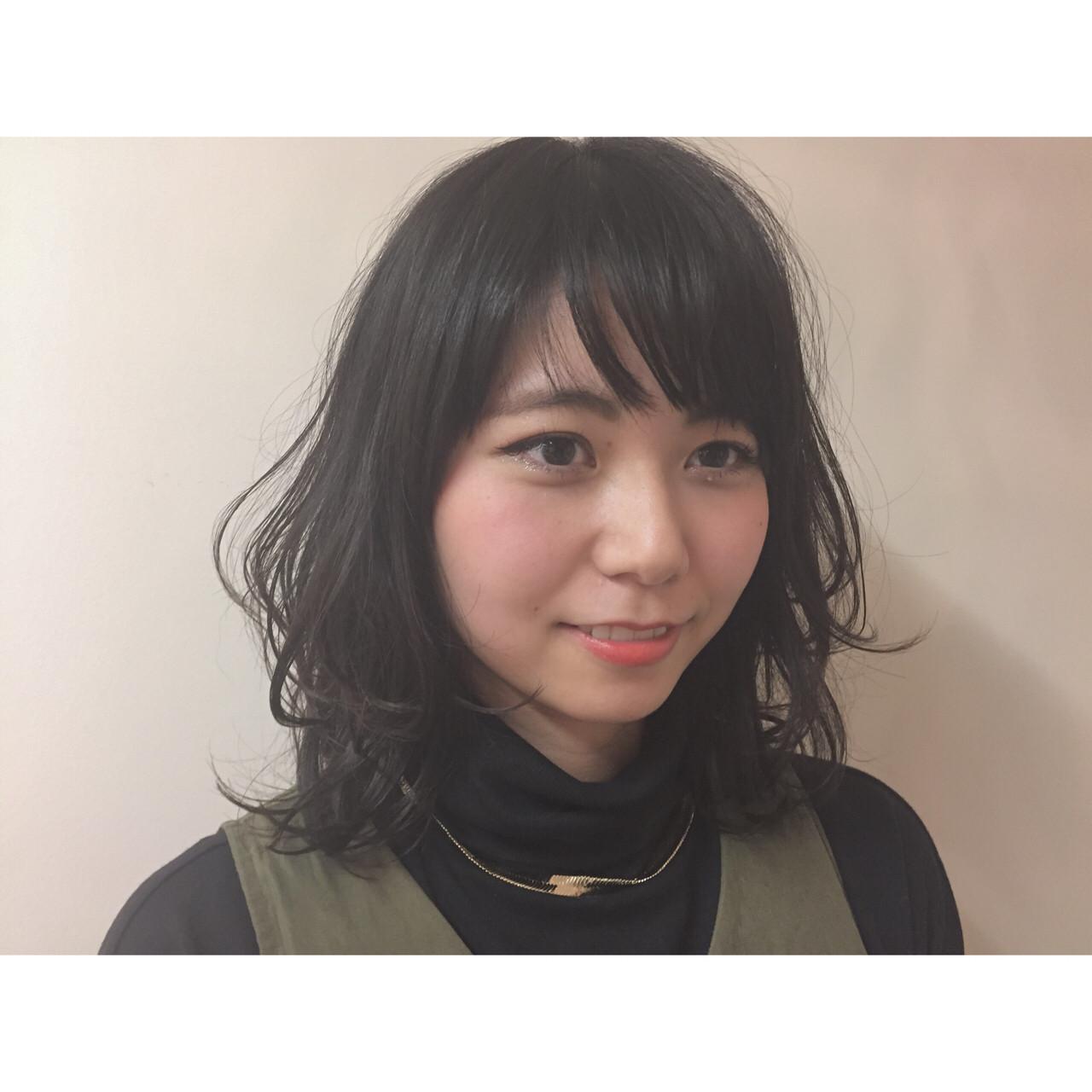 黒髪×ミディアム×パーマは色気たっぷりのおフェロスタイルに♡ Ryuuki Miyagi