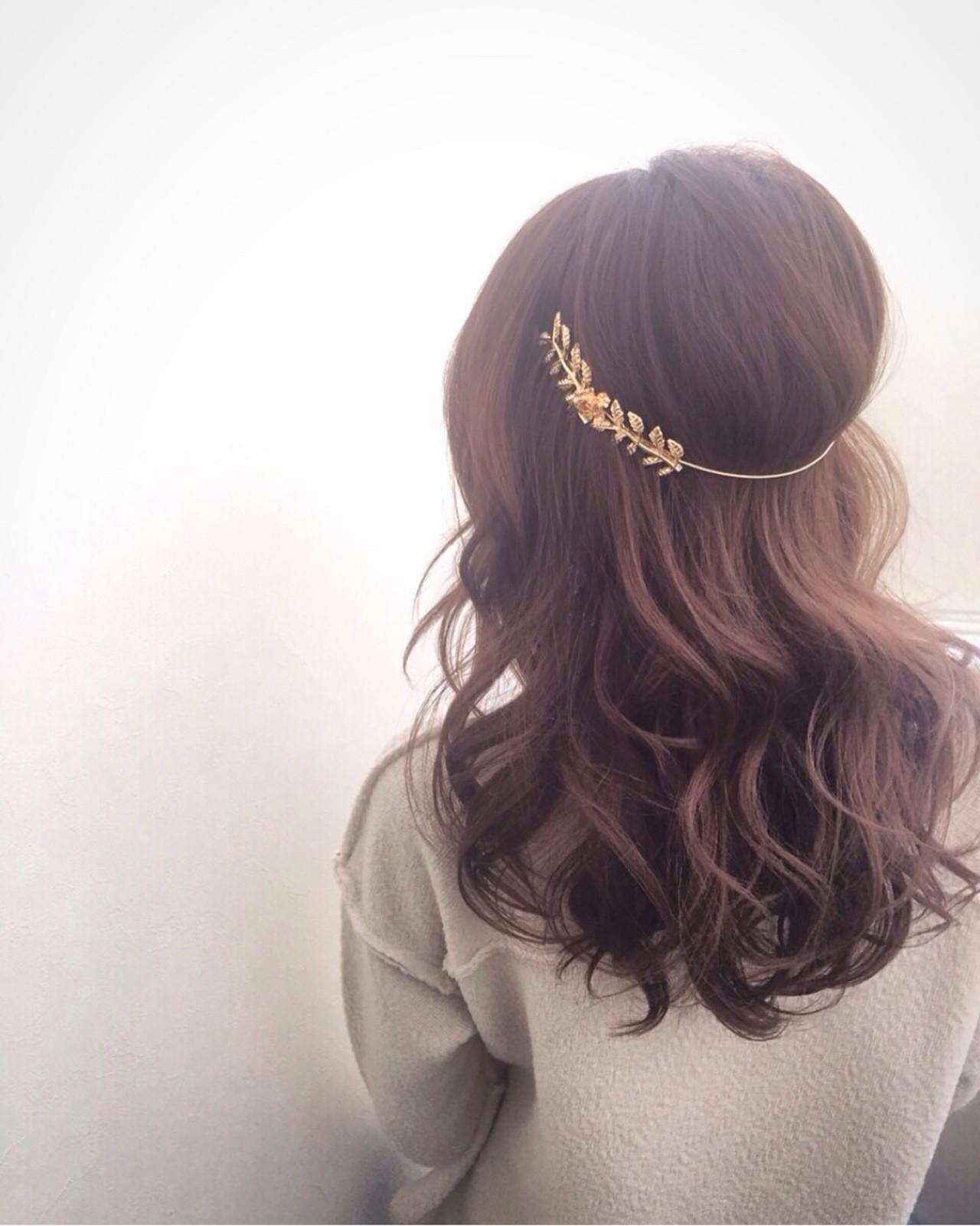 """うしろ姿にドキッ♡おしゃれなヘアアクセなら""""バックカチューシャ""""で決まり ryota kuwamura  函館/hair make Full throttle/ フルスロットル"""