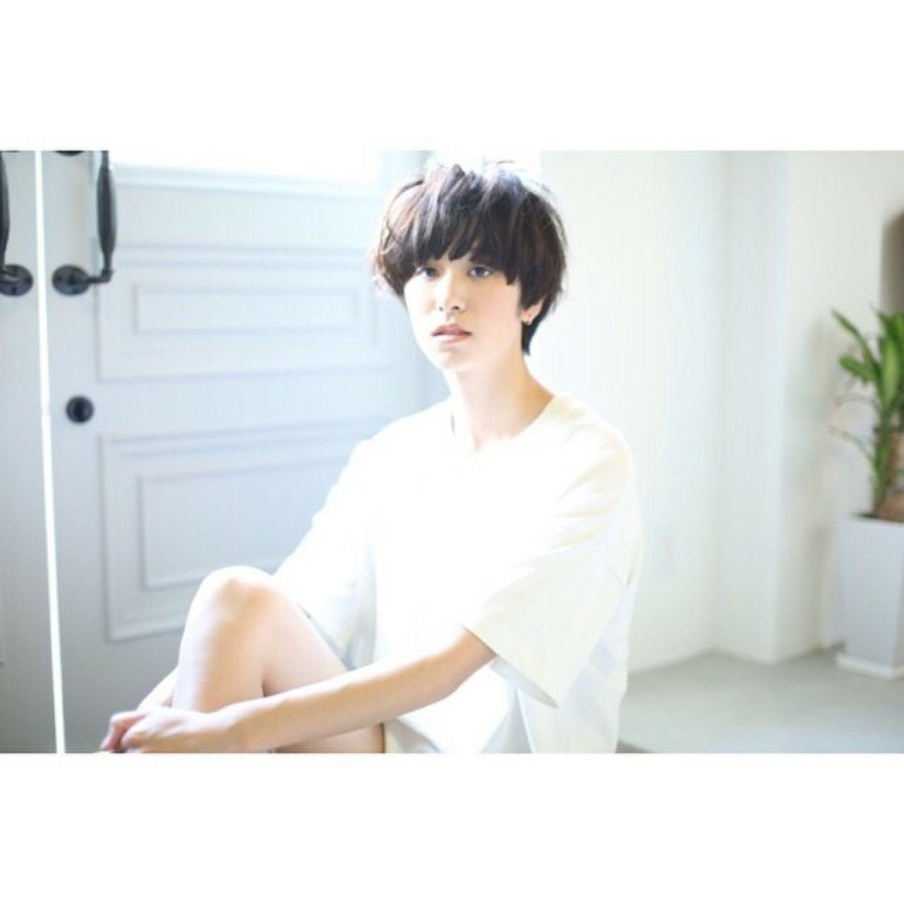 """媚びないワタシ♡今っぽくカッコイイ""""黒髪ショート""""カタログ 木村 達沖"""