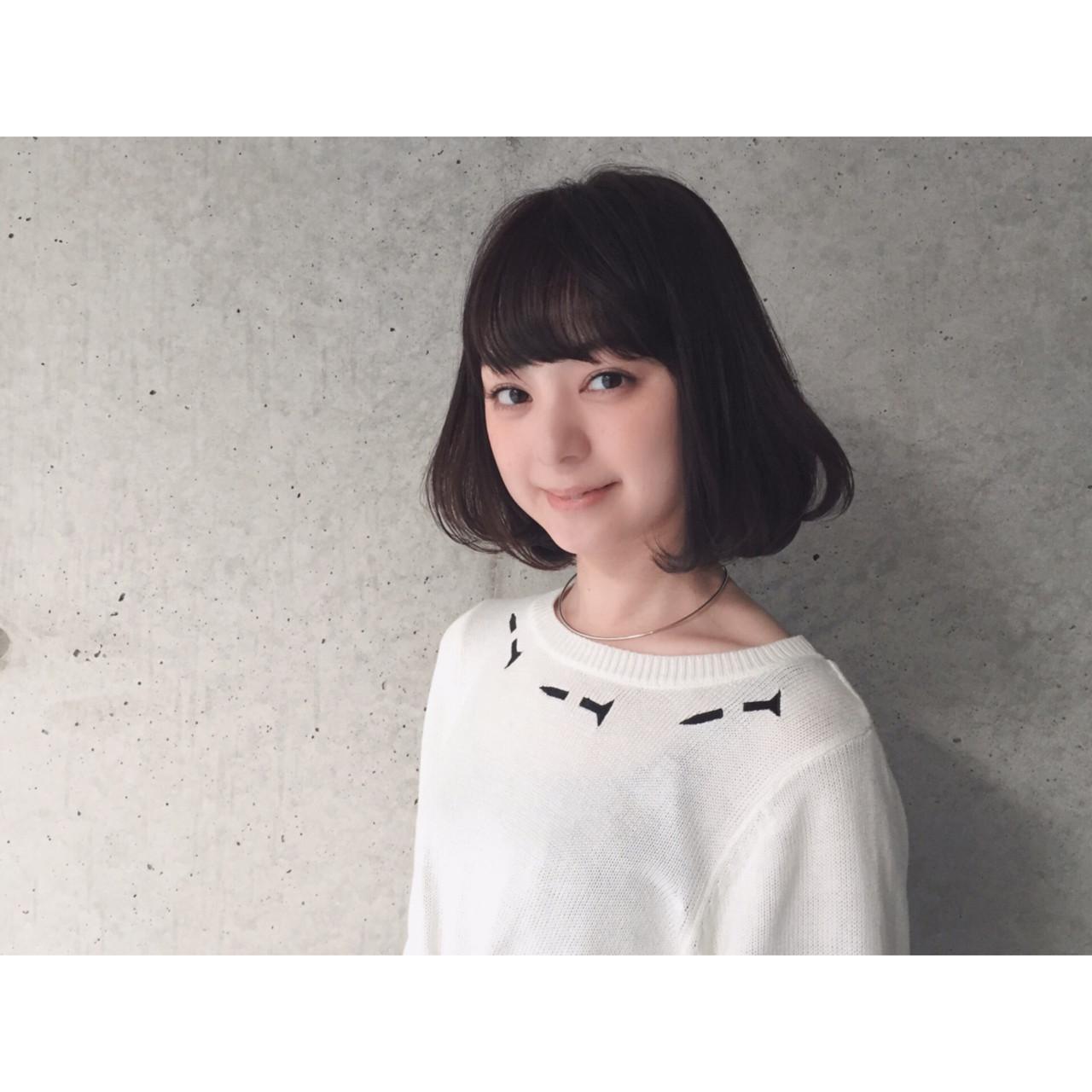 なりたいが叶う♡印象別黒髪ぱっつんボブスタイルを紹介! 大西 絢子/HOULe
