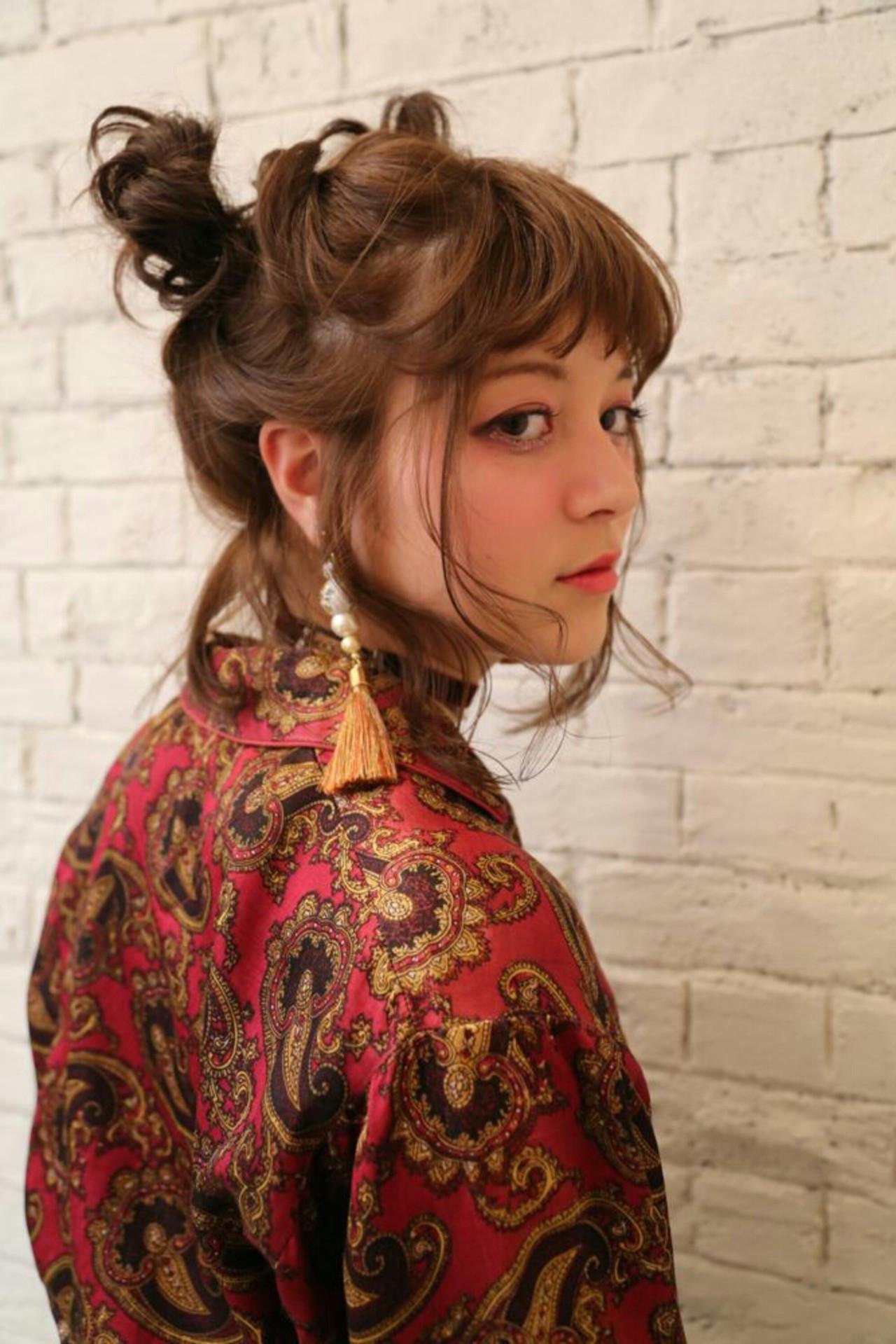 かわいい おフェロ ミディアム ヘアアレンジ ヘアスタイルや髪型の写真・画像