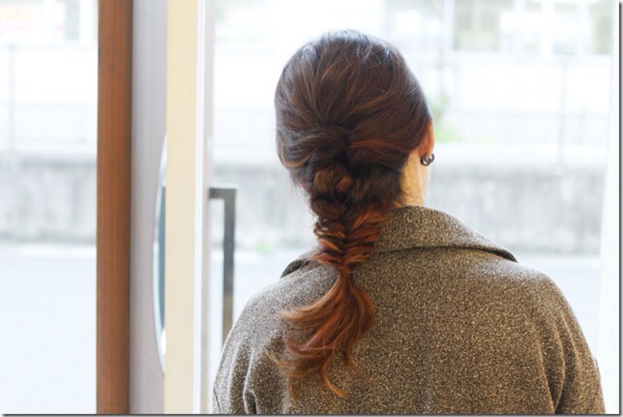 ショート ヘアアレンジ セミロング 簡単ヘアアレンジ ヘアスタイルや髪型の写真・画像
