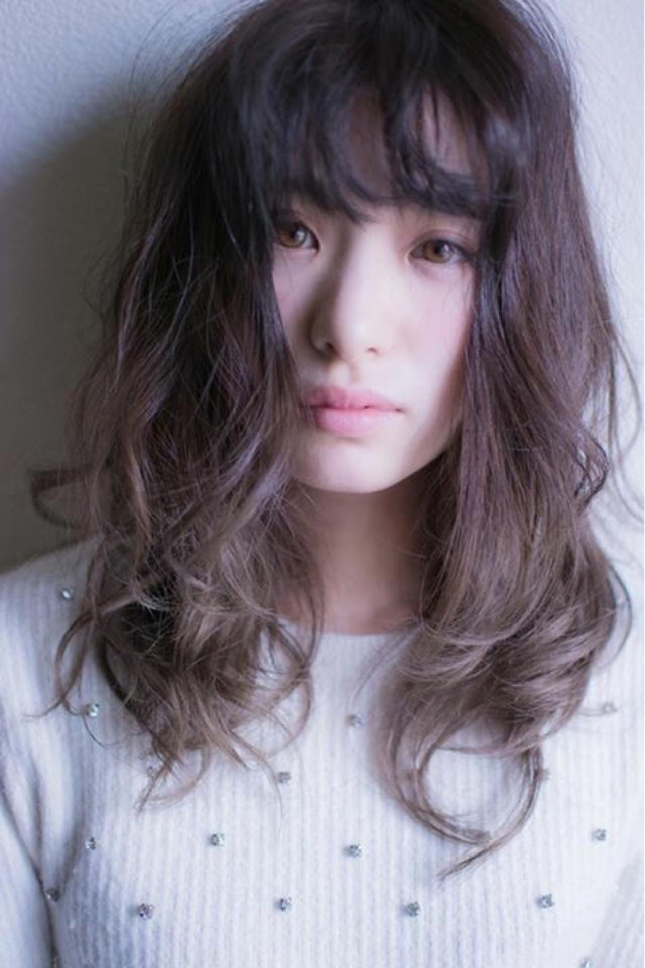 ゆるふわ グレージュ フェミニン 大人かわいい ヘアスタイルや髪型の写真・画像