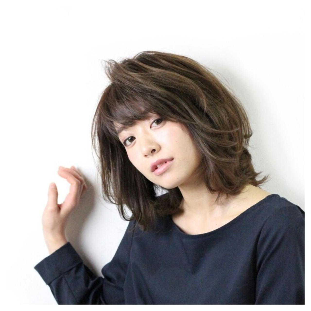 ゆるふわ コンサバ 大人かわいい ミディアム ヘアスタイルや髪型の写真・画像