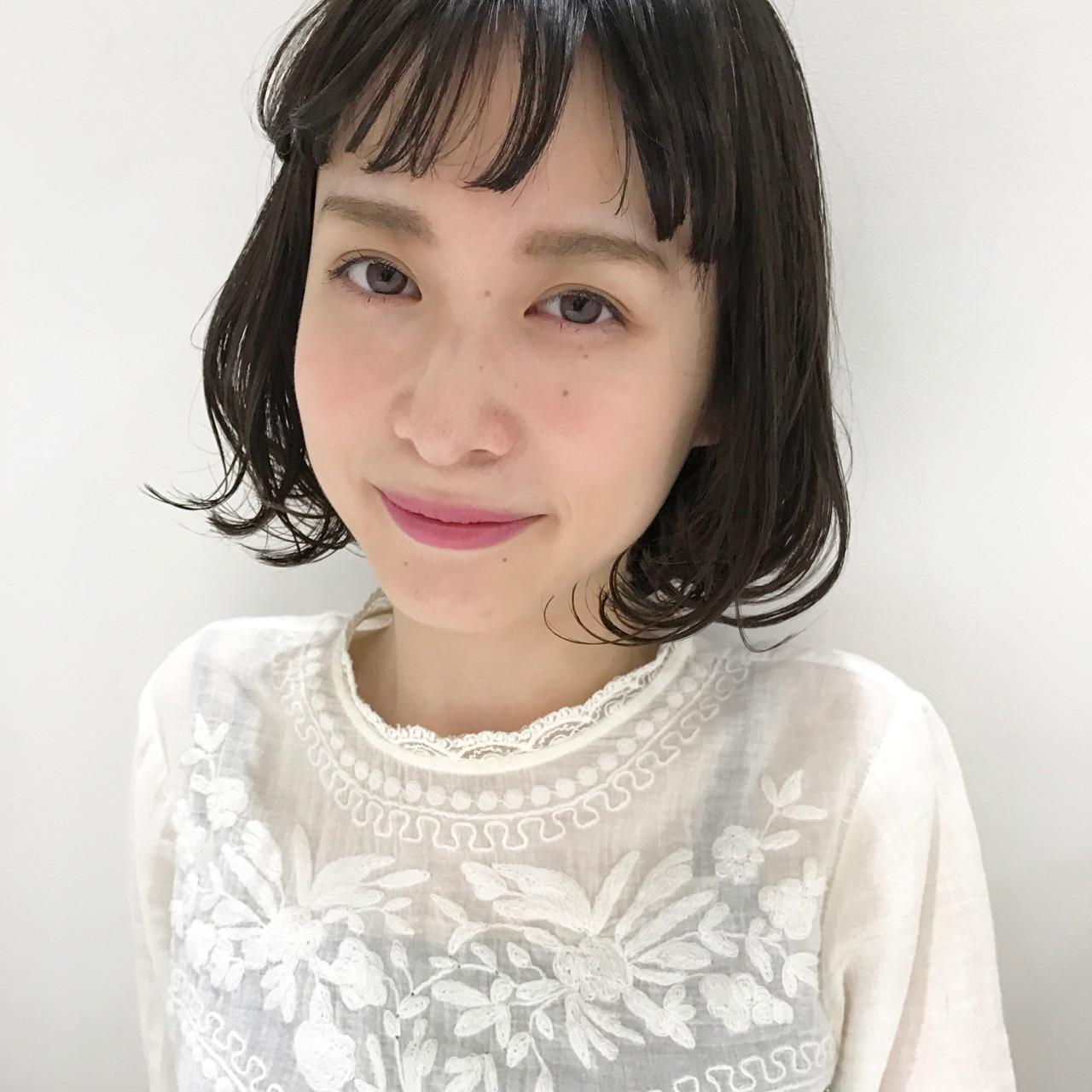 なりたいが叶う♡印象別黒髪ぱっつんボブスタイルを紹介! SHUN