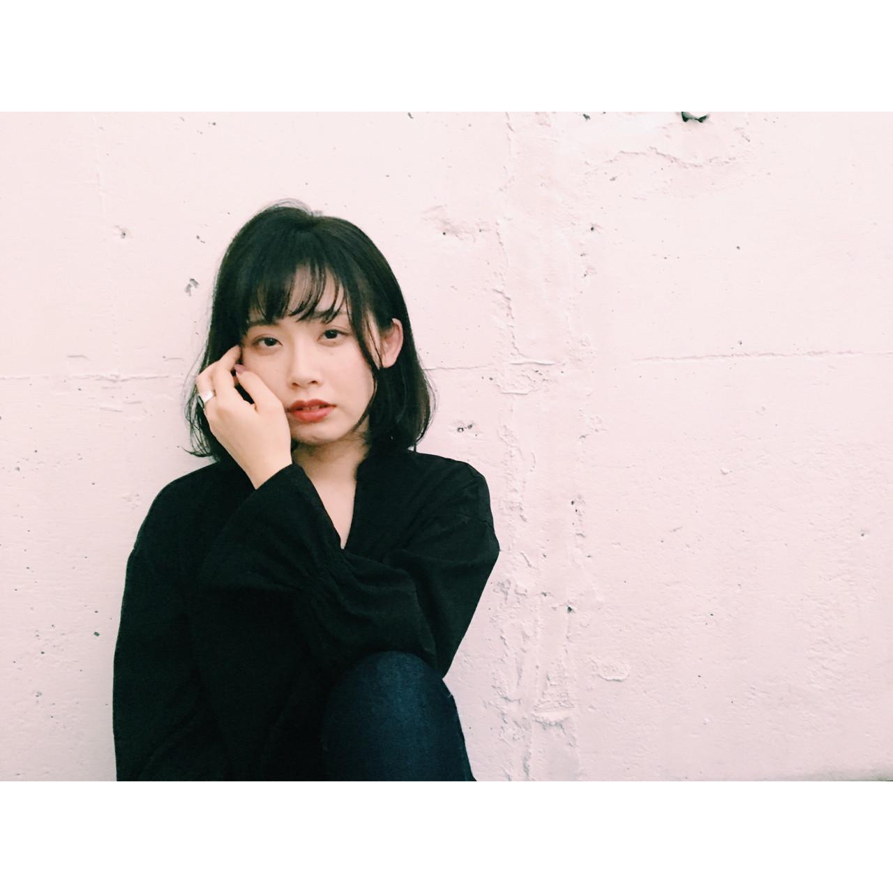 なりたいが叶う♡印象別黒髪ぱっつんボブスタイルを紹介! 長 賢太郎