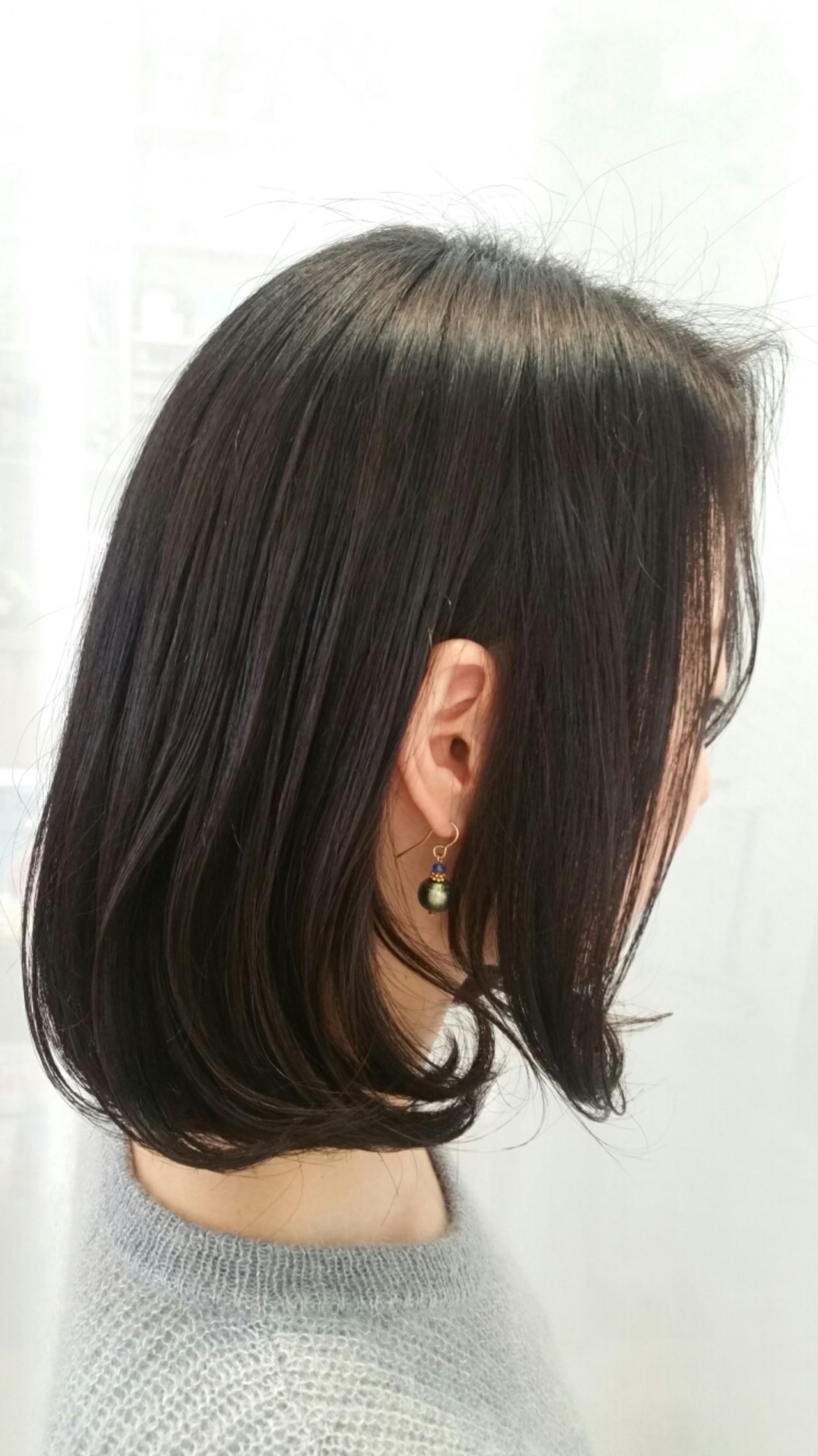 かっこいいけど色っぽい♡前髪なしの黒髪ミディアムヘアスタイル集 椿 智仁 ALBELY アルベリー  ALBELY hair&spa アルベリー 磐田